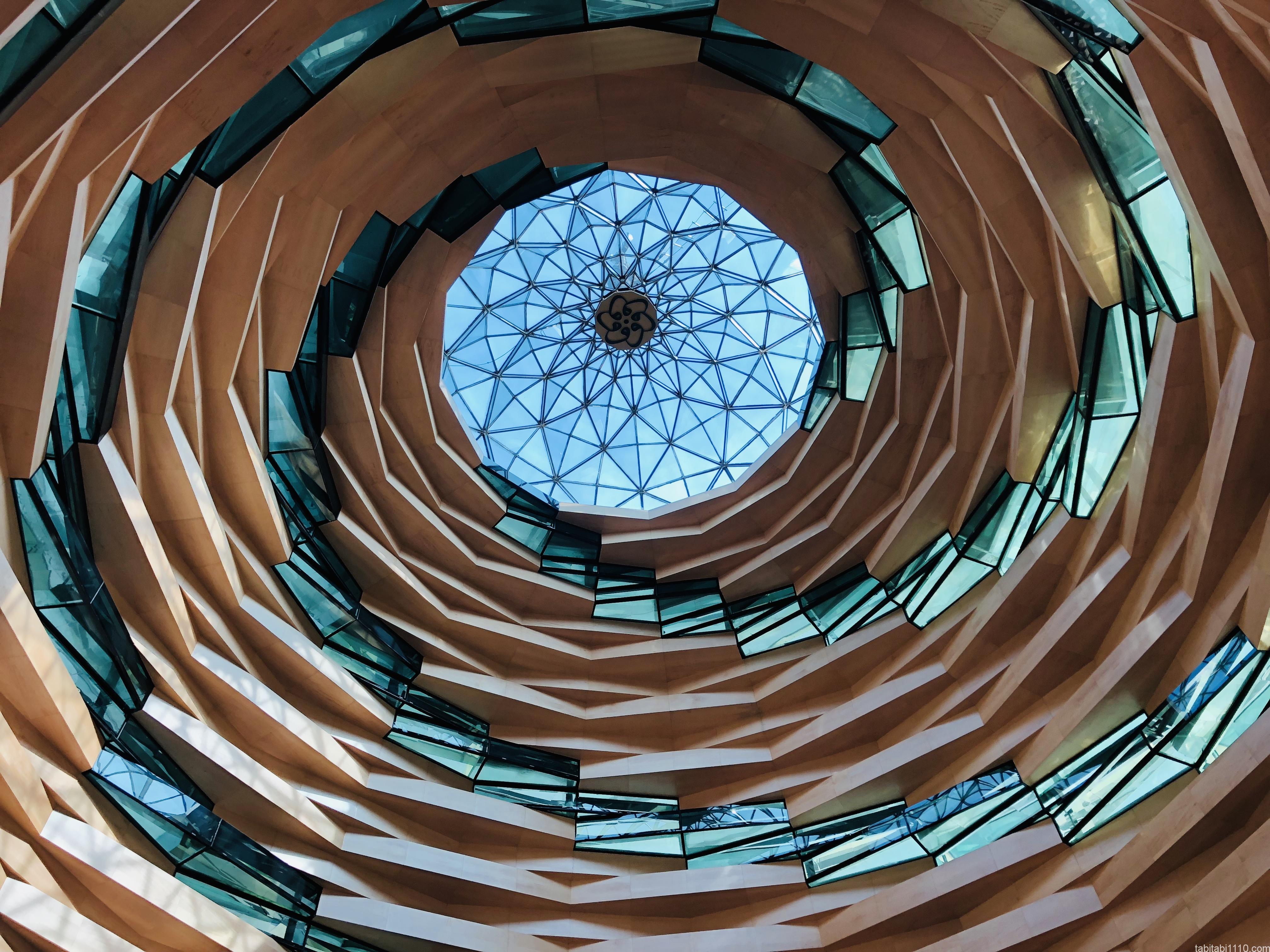 イスタンブール|アジア側モスク天井