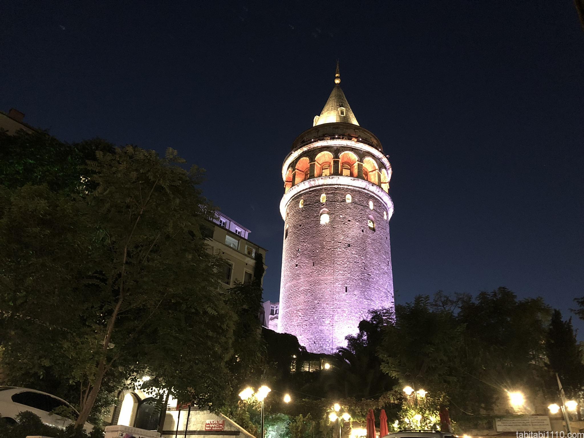 イスタンブール ガラタ塔夜景