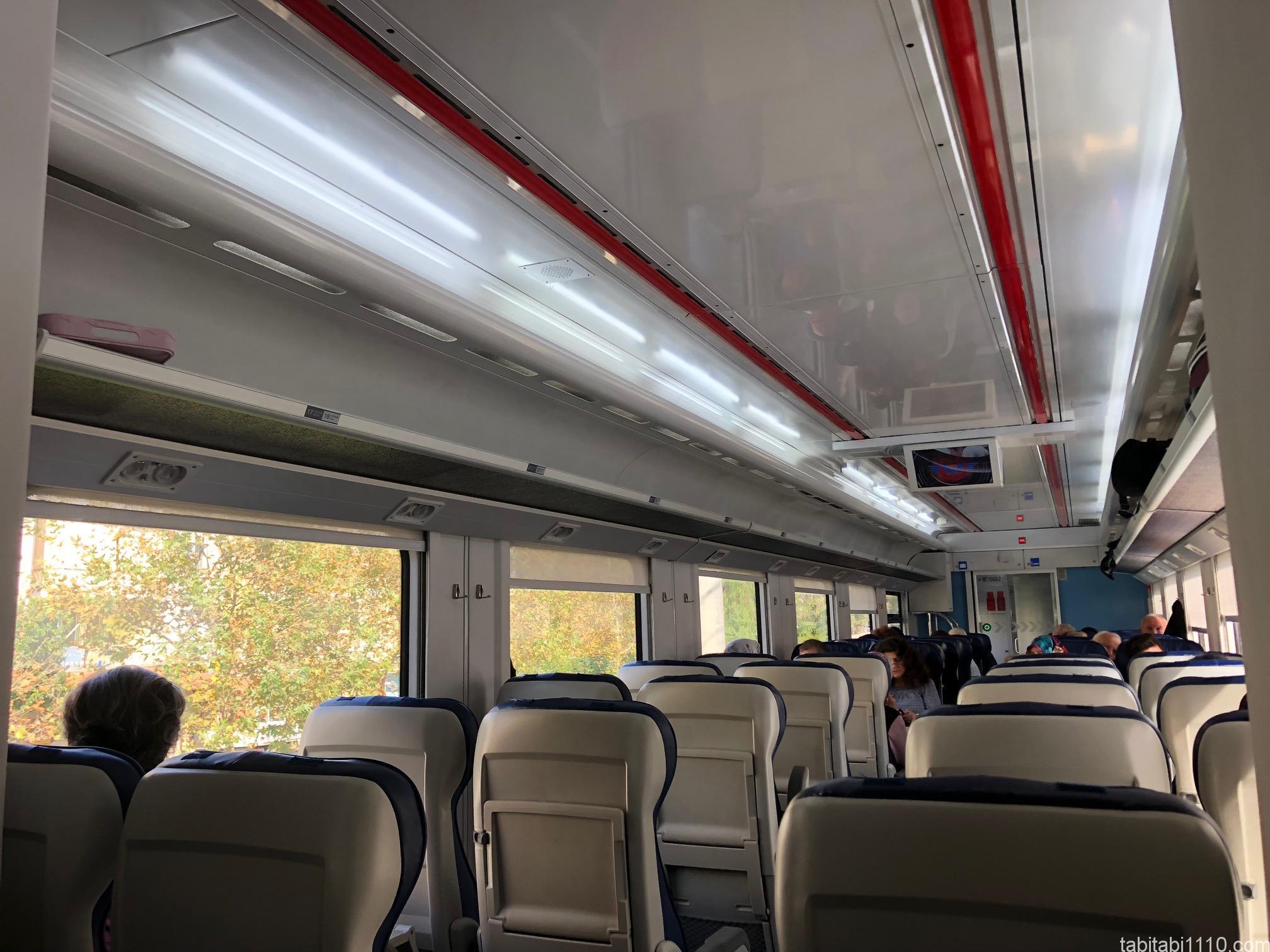 セルチュクからデニズリ(パムッカレ)|電車内