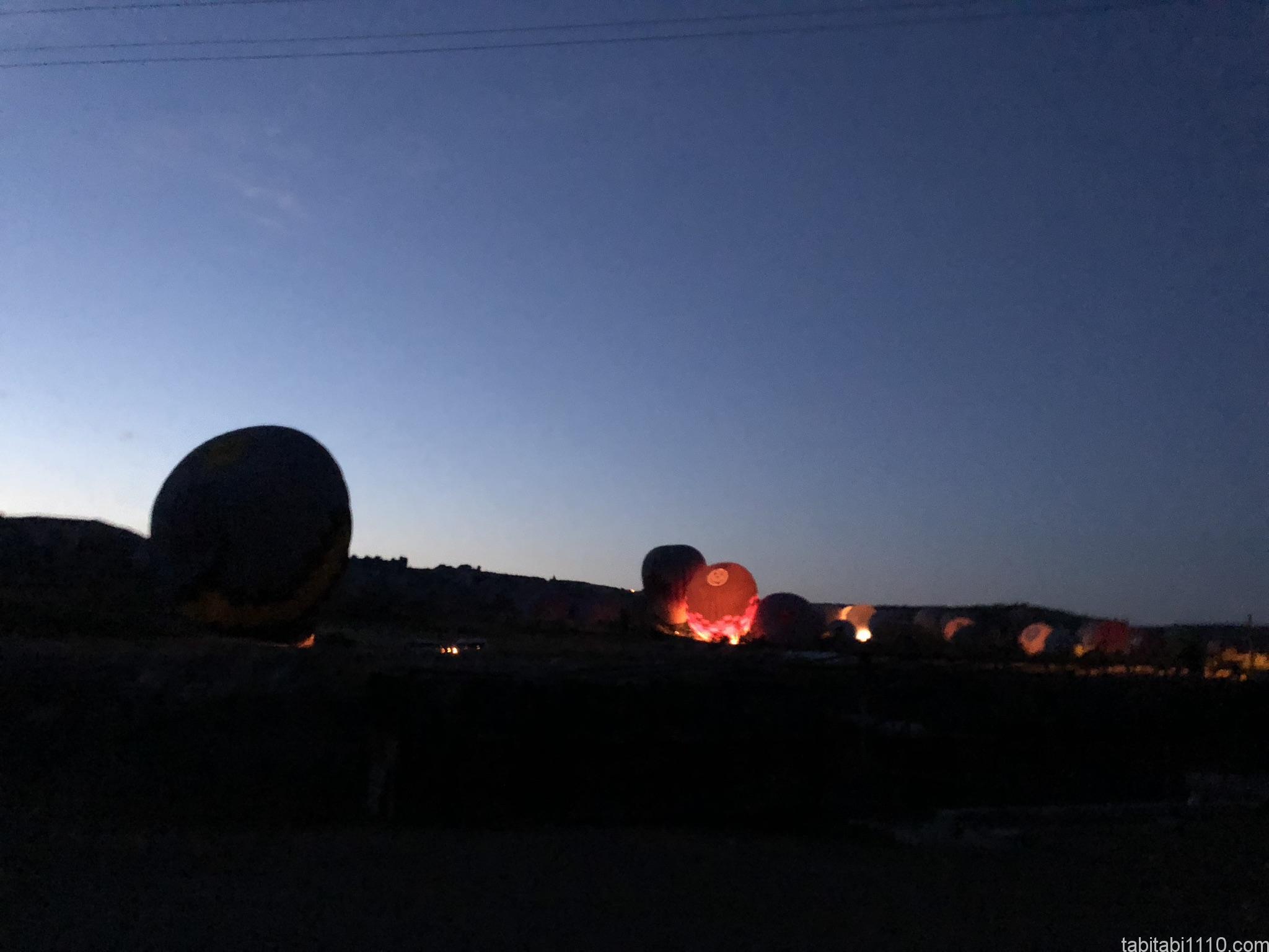 カッパドキアの熱気球|飛行前1