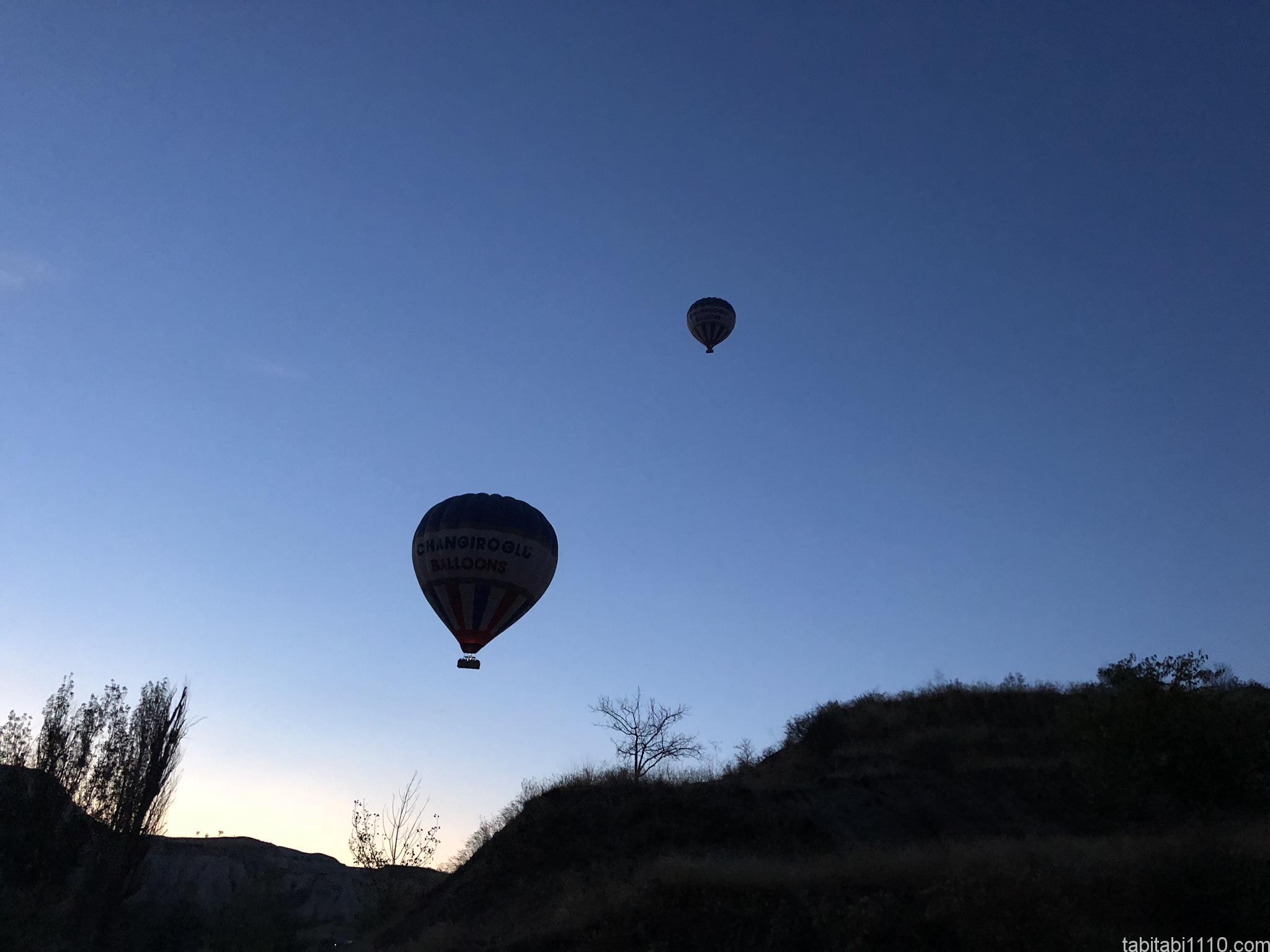 カッパドキアの熱気球|飛び始め