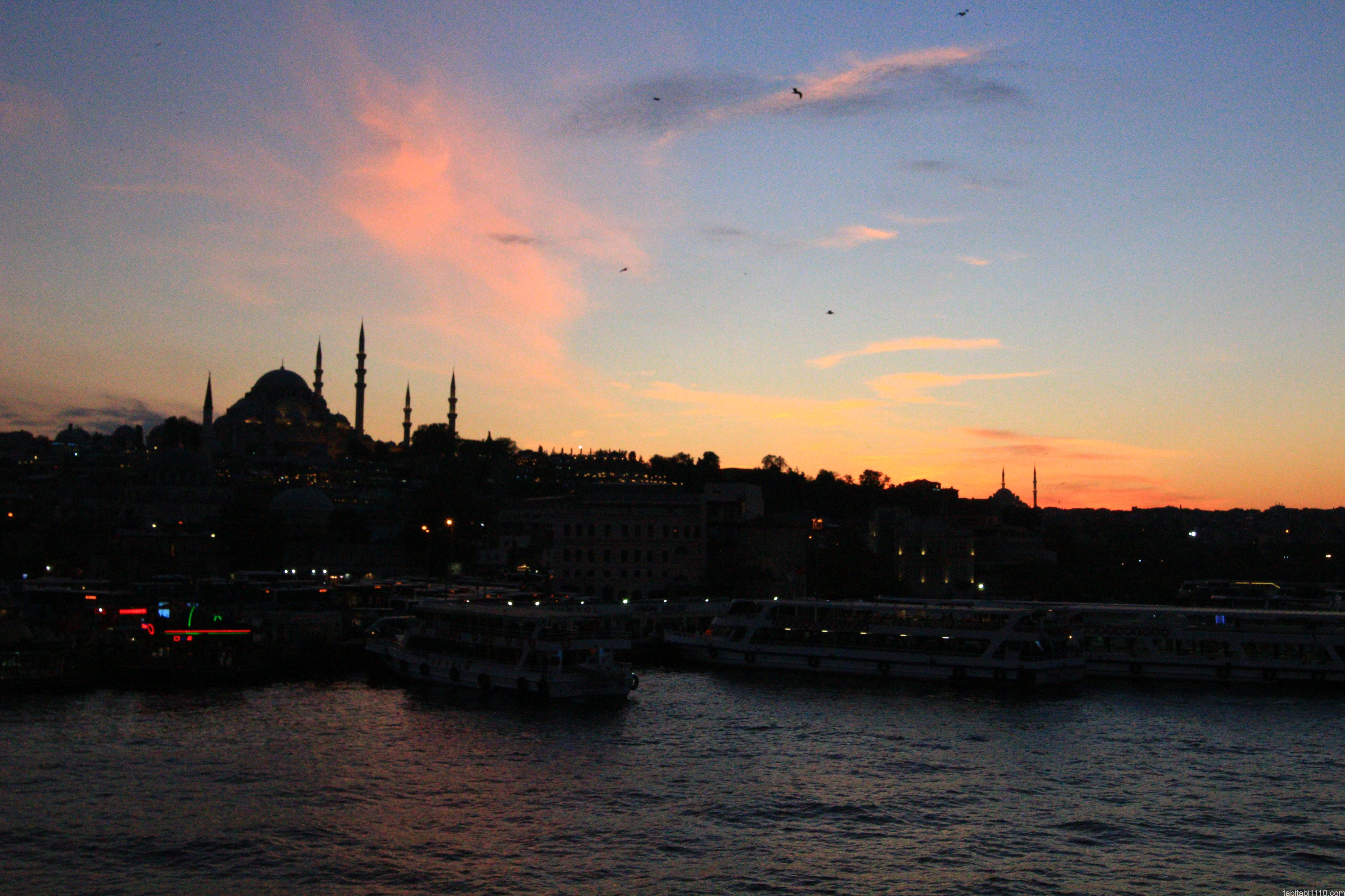 イスタンブール 夕焼け