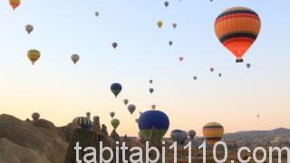 カッパドキアの熱気球|飛行中2