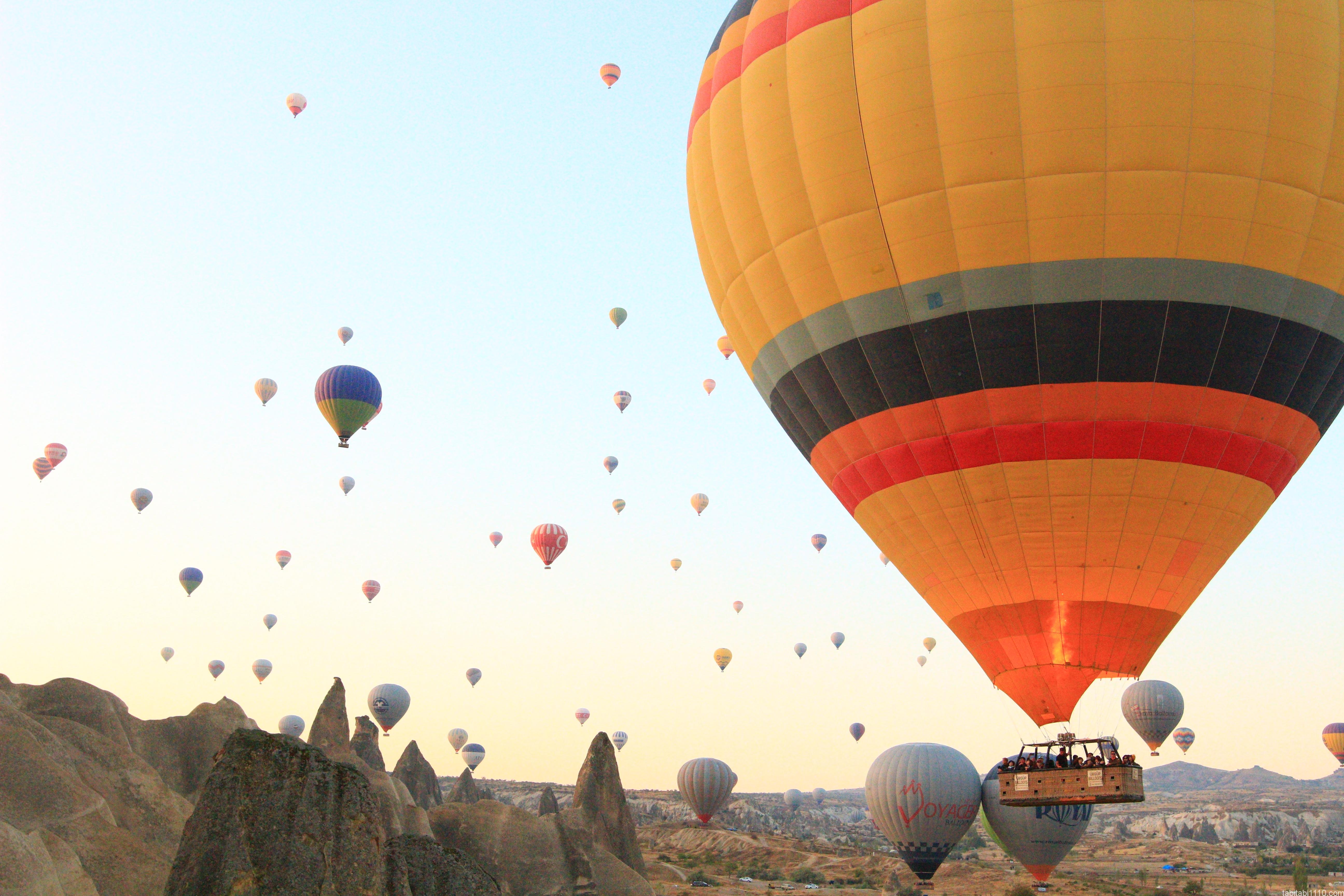 カッパドキアの熱気球|飛行中3