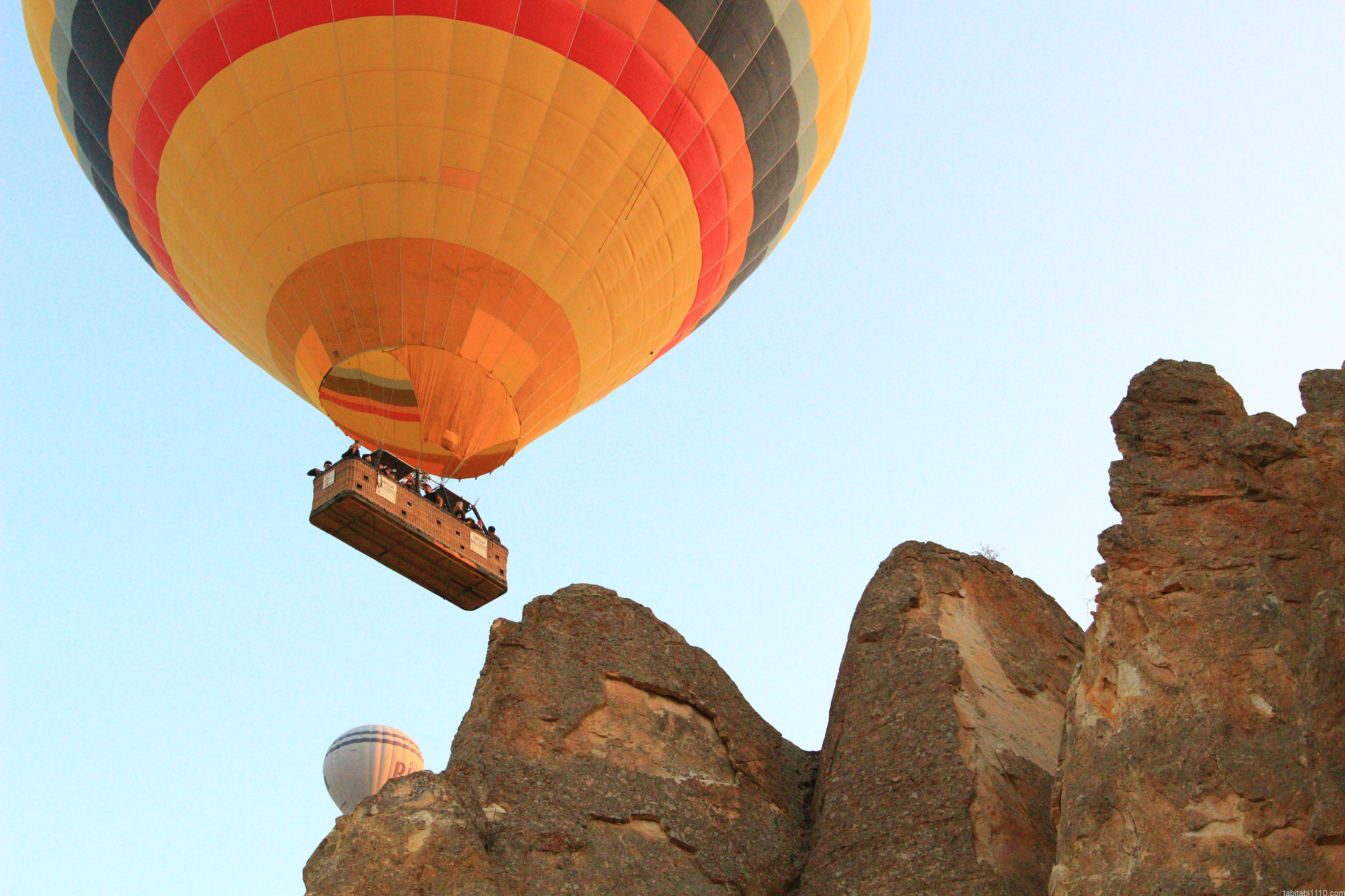 カッパドキアの熱気球|飛行中4