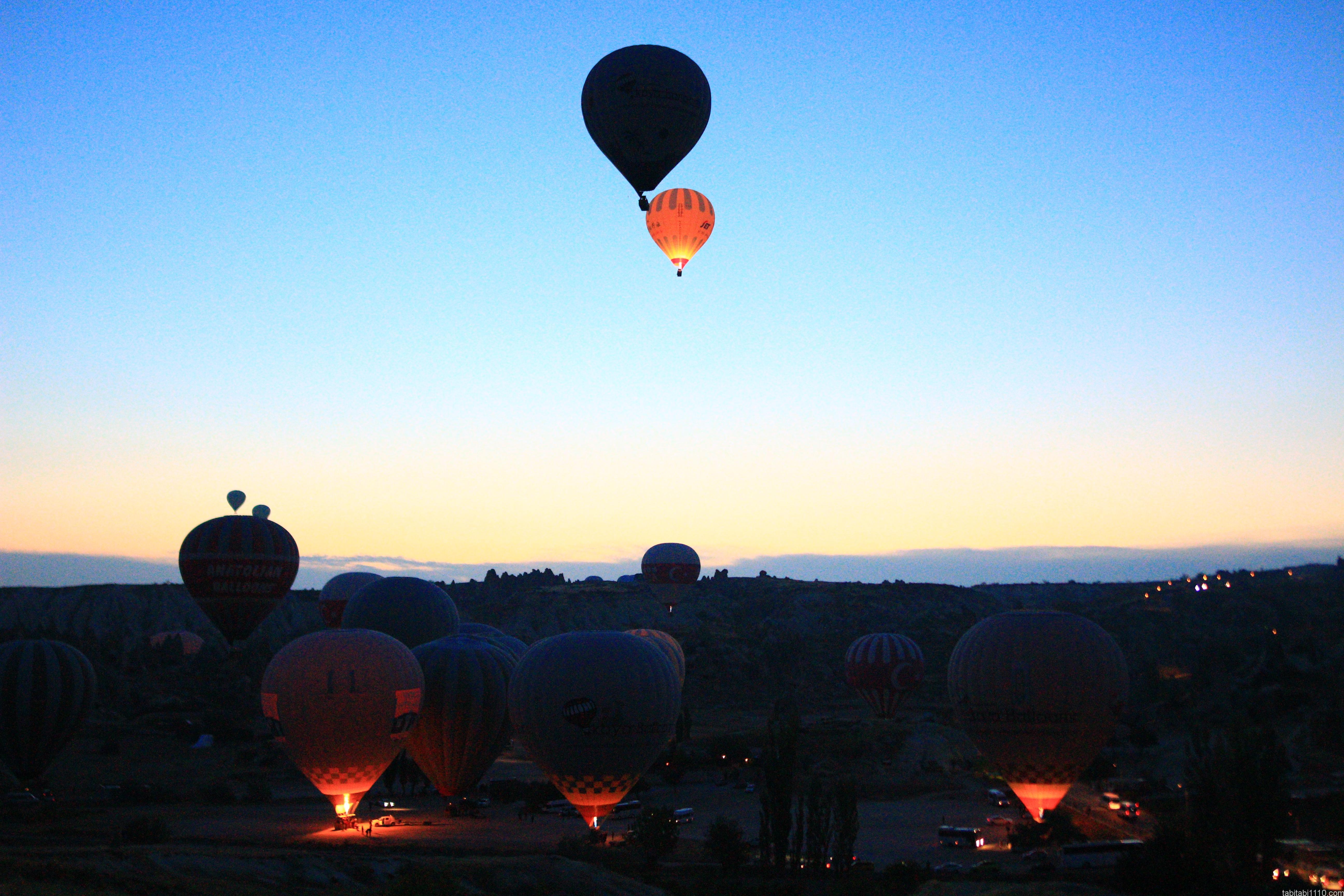 カッパドキア熱気球|飛行中