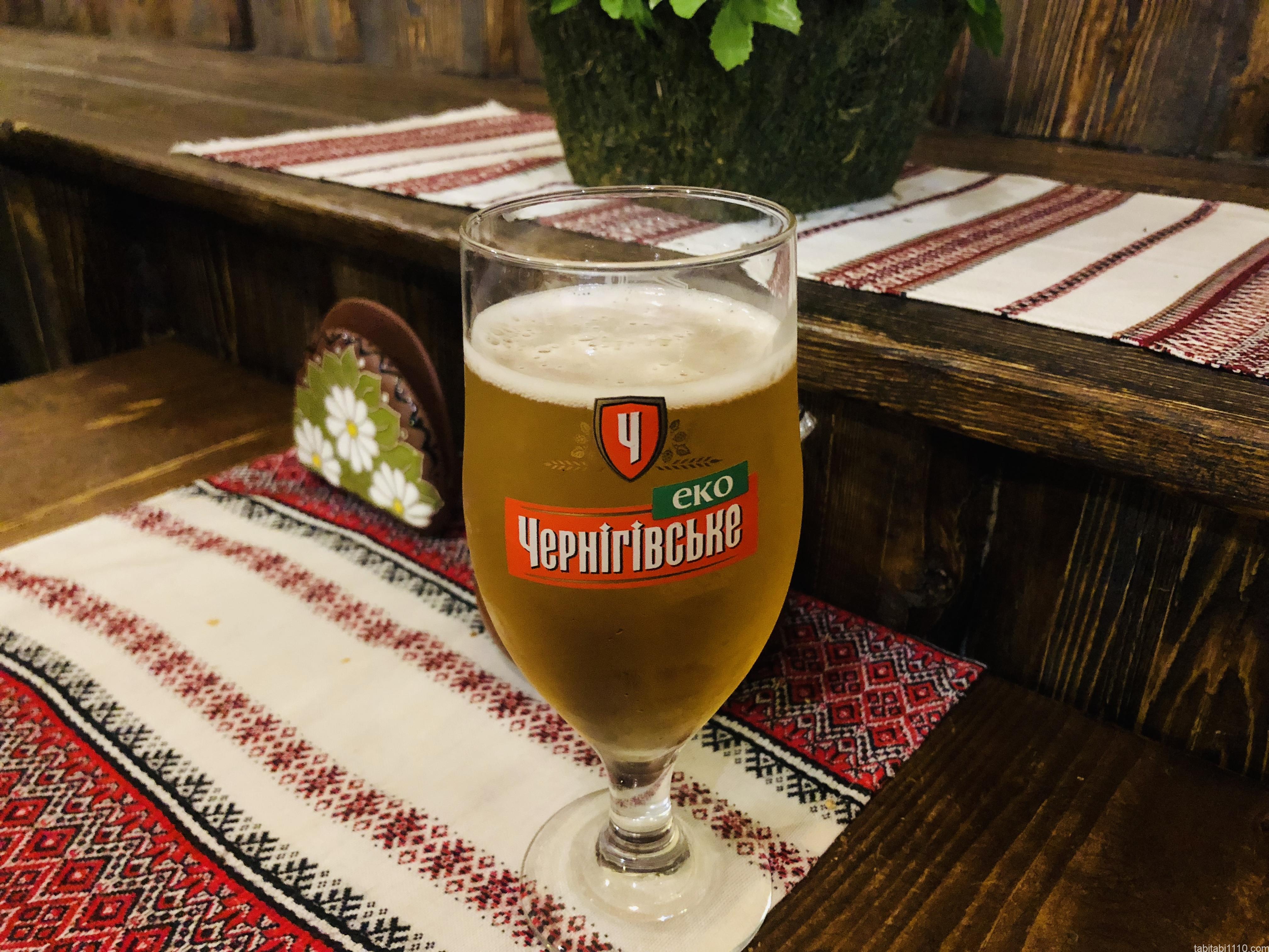 ウクライナ料理店|ビール