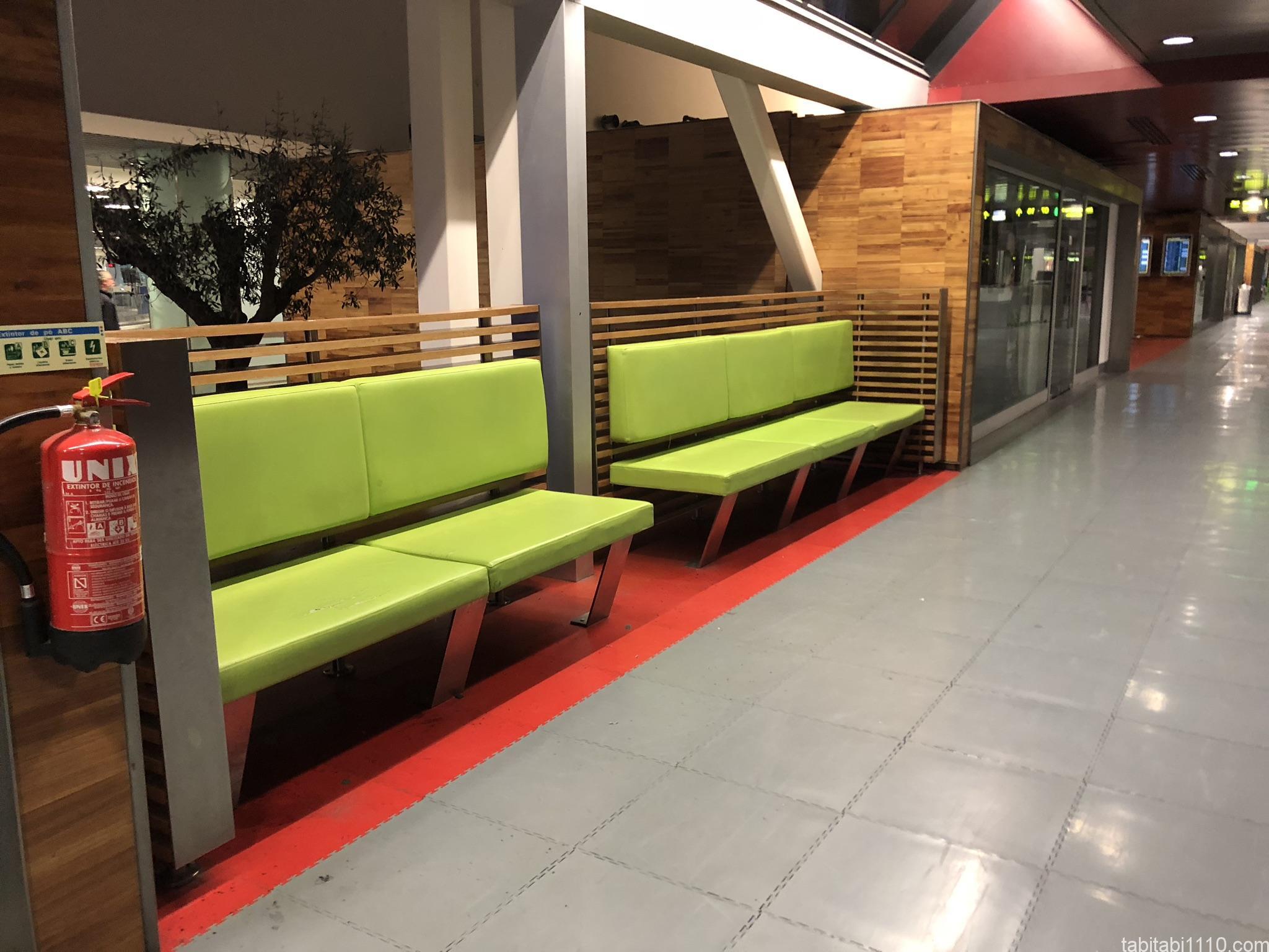 リスボン空港のソファ