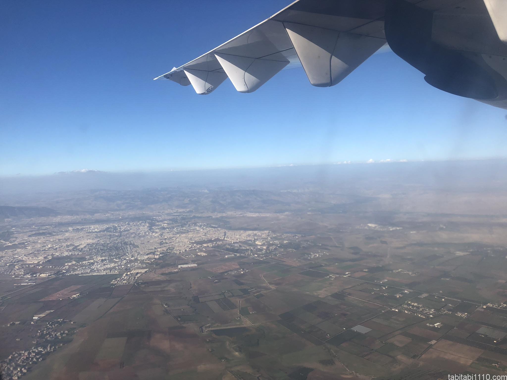 ポルトガル航空からの景色