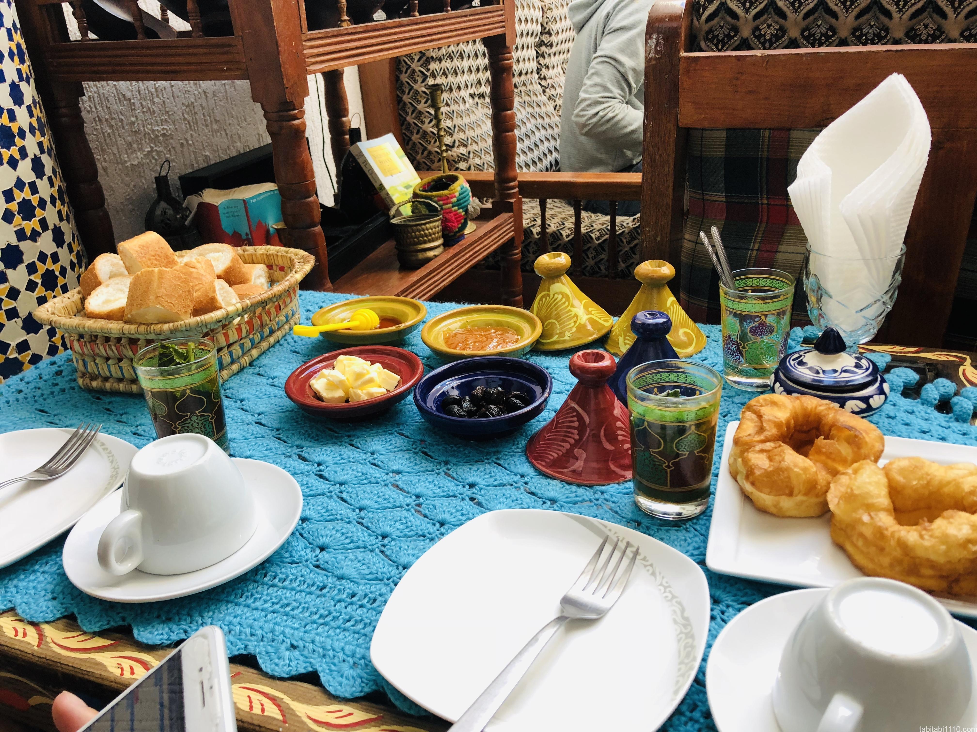 フェズの宿の朝食