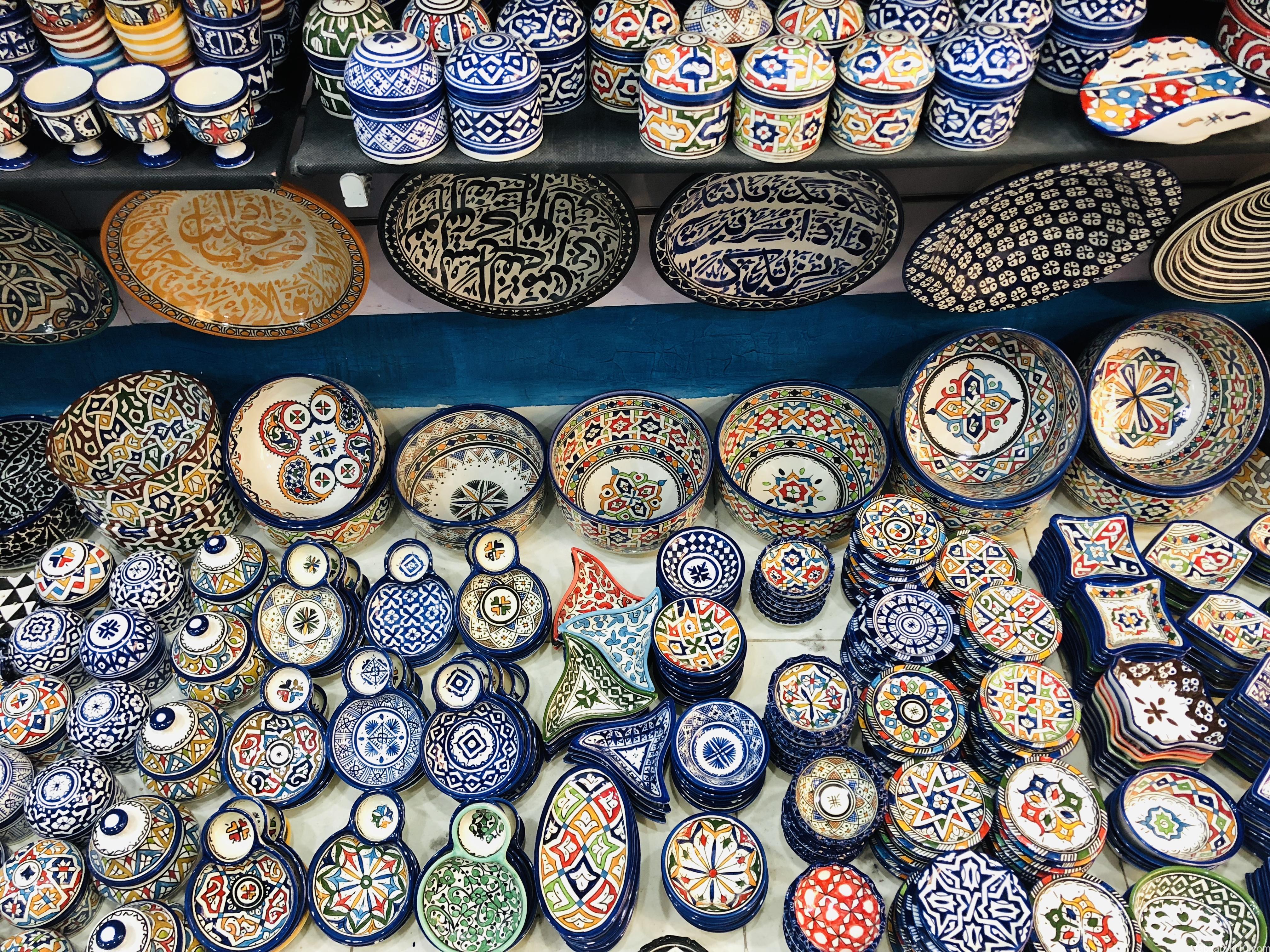 フェズのメディナ(旧市街)|陶器