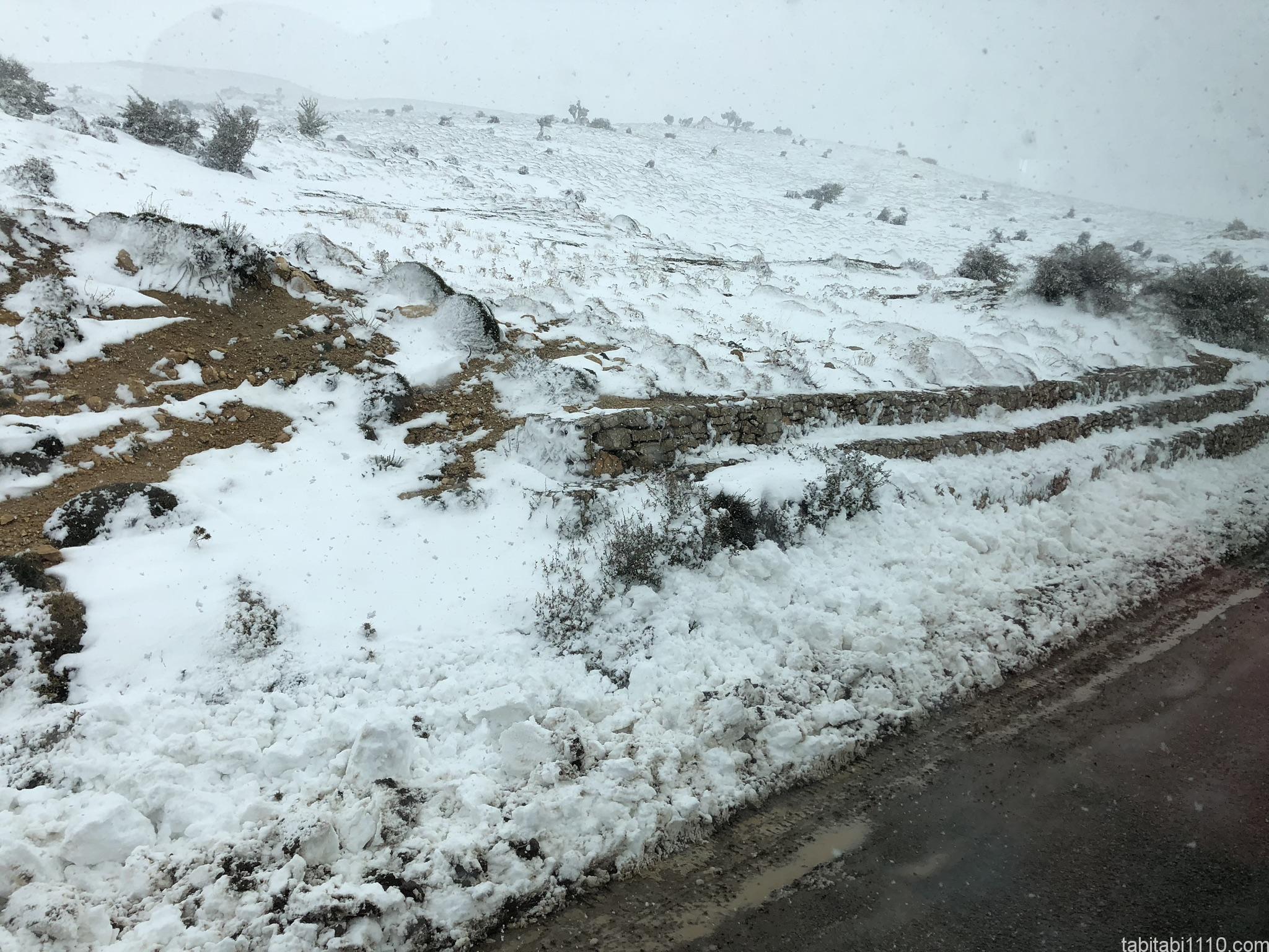 フェズからメルズーガ|雪景色2