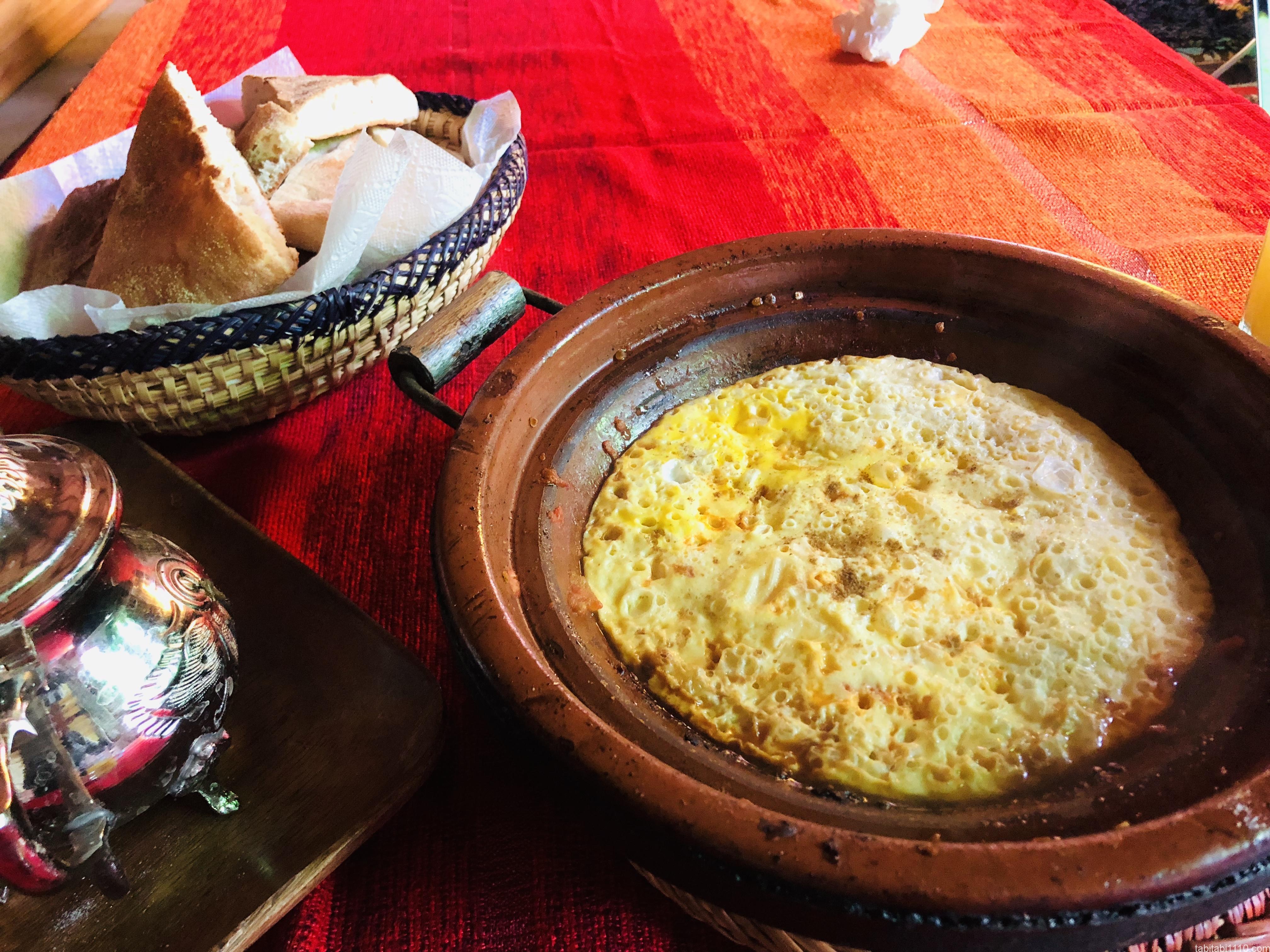 のりこハウスの朝食