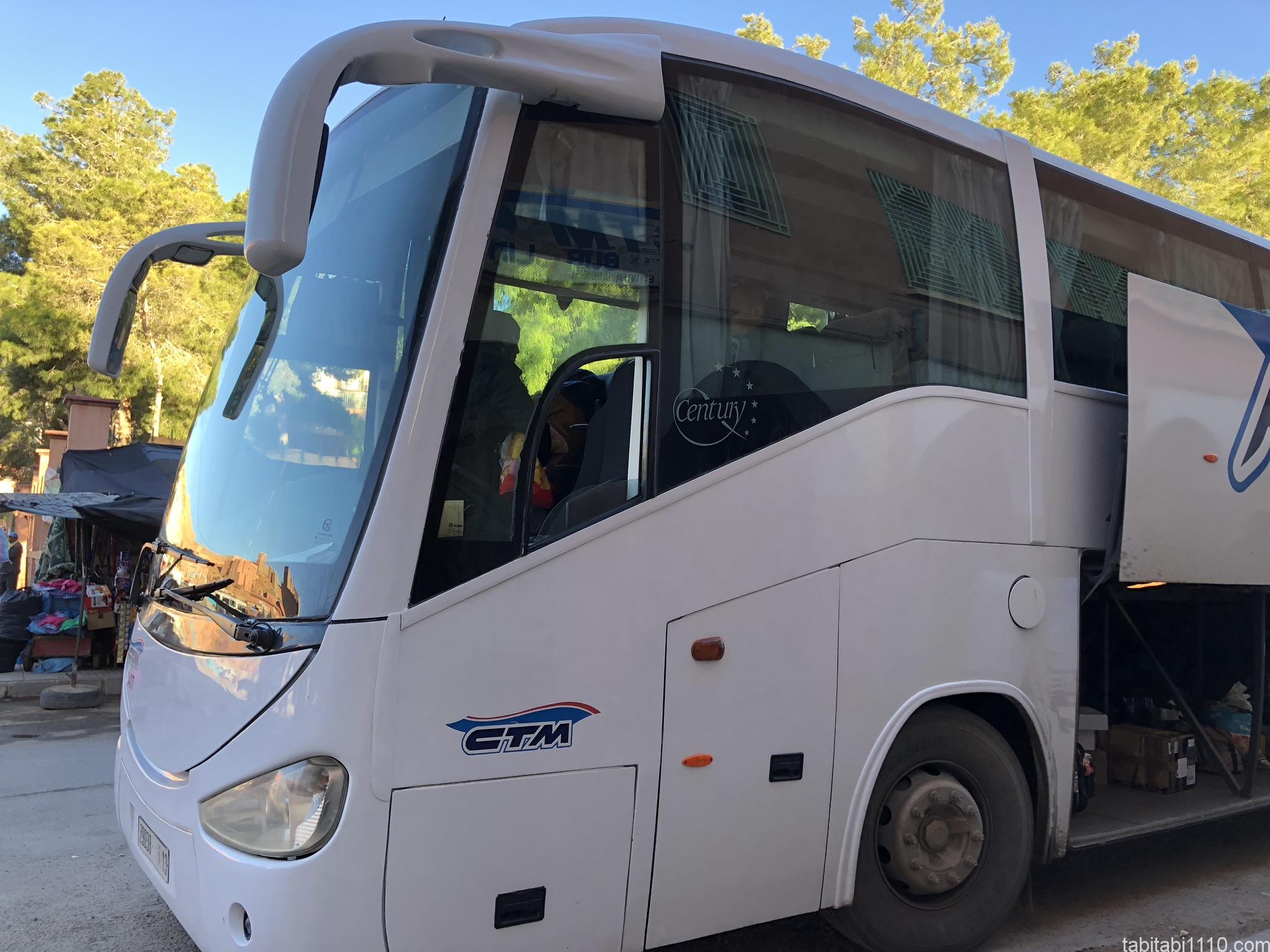 CTM社バス|ワルザザート行き