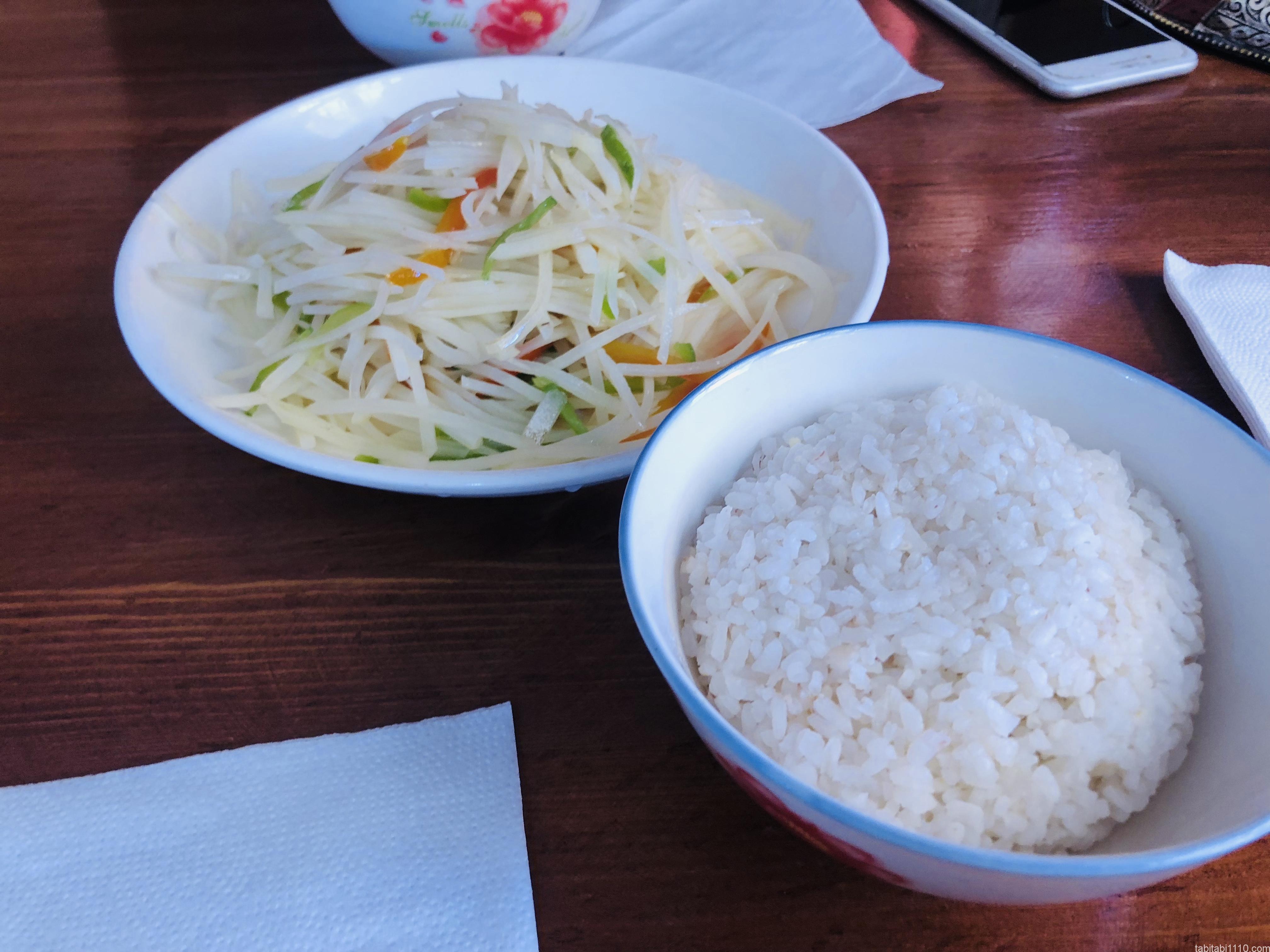 アイントベンハドゥの中華|ジャガイモ炒め