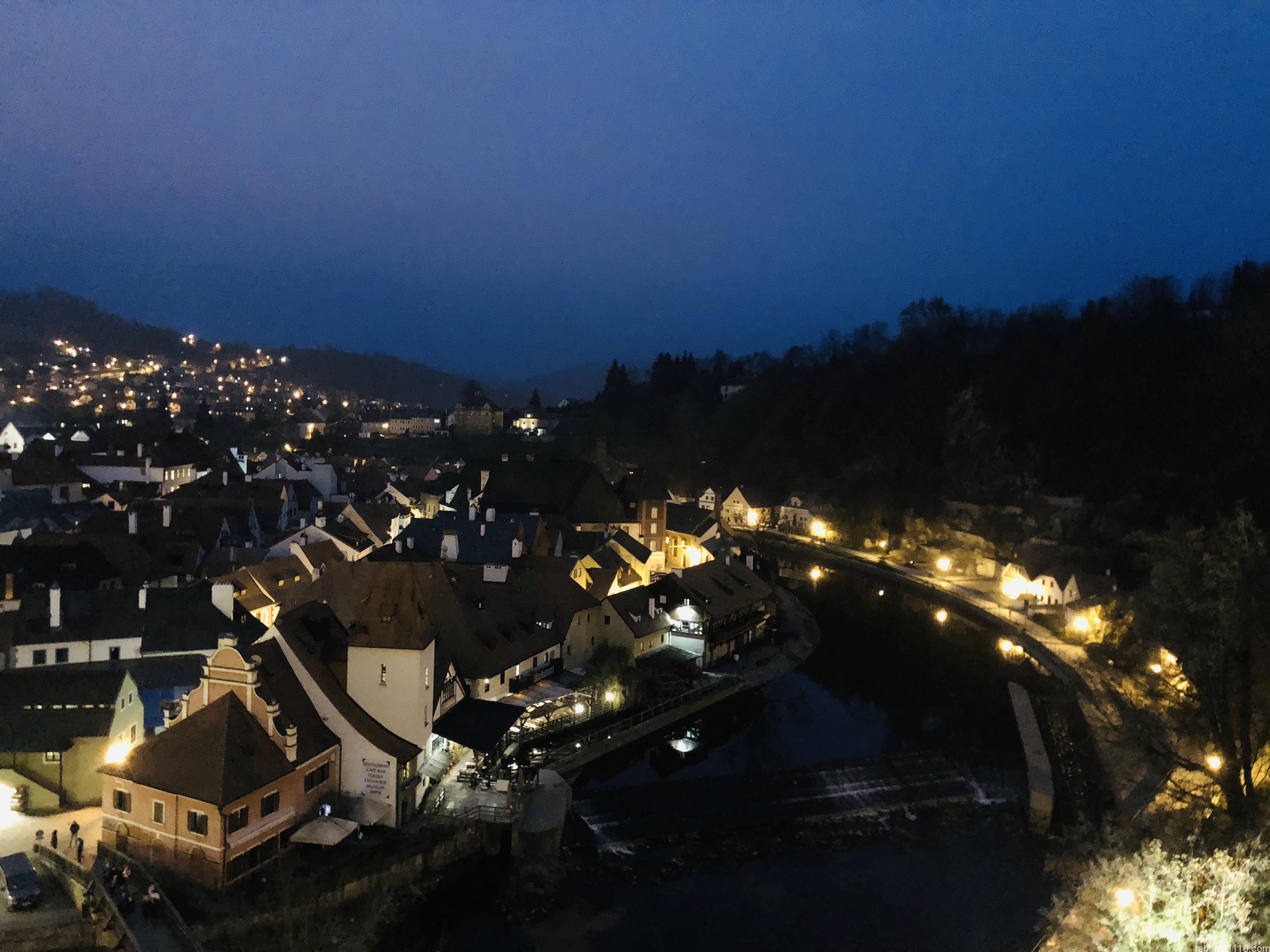 チェスキークルムロフ|夜景
