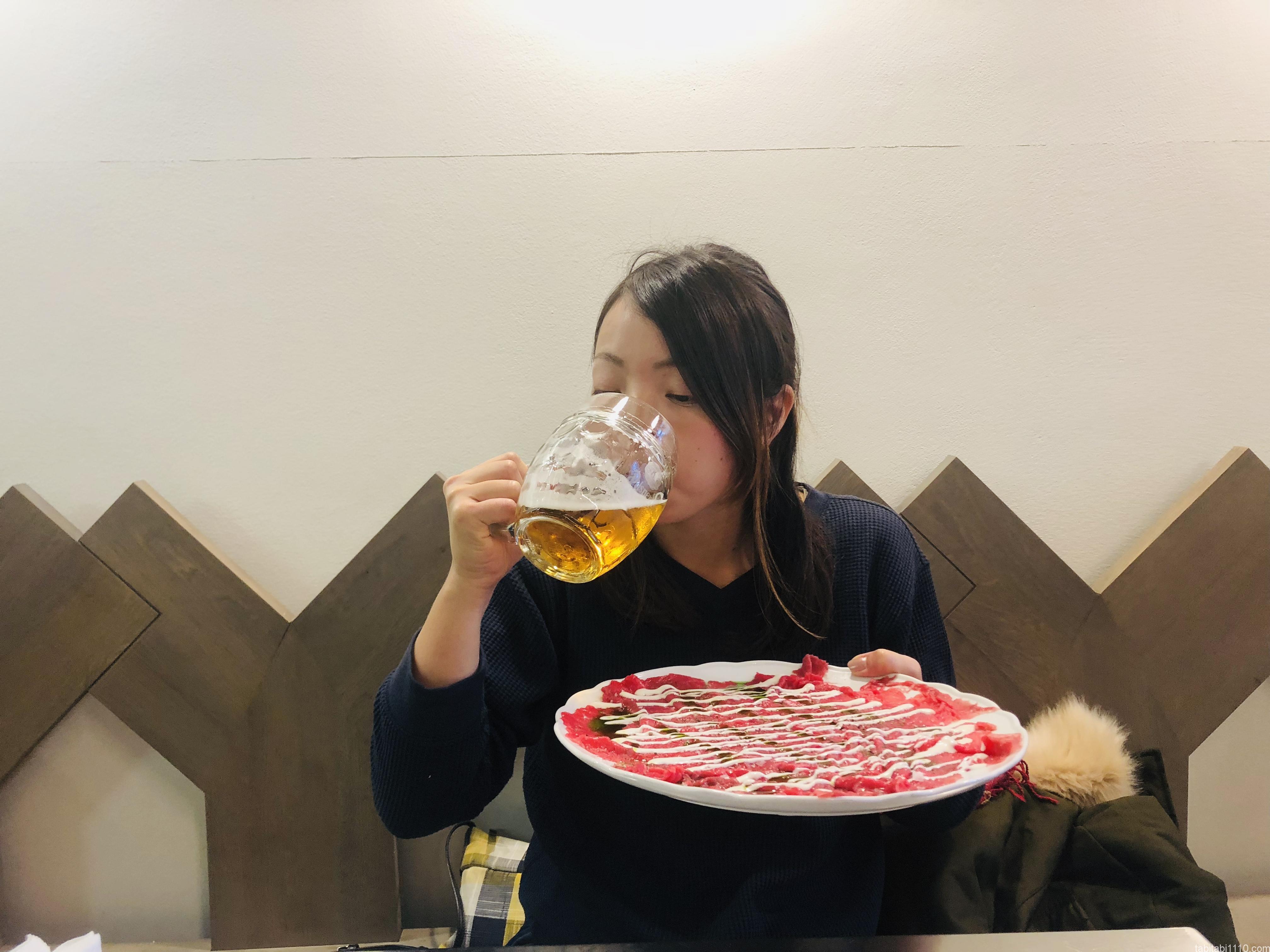 Kantýna|カルパッチョとビール