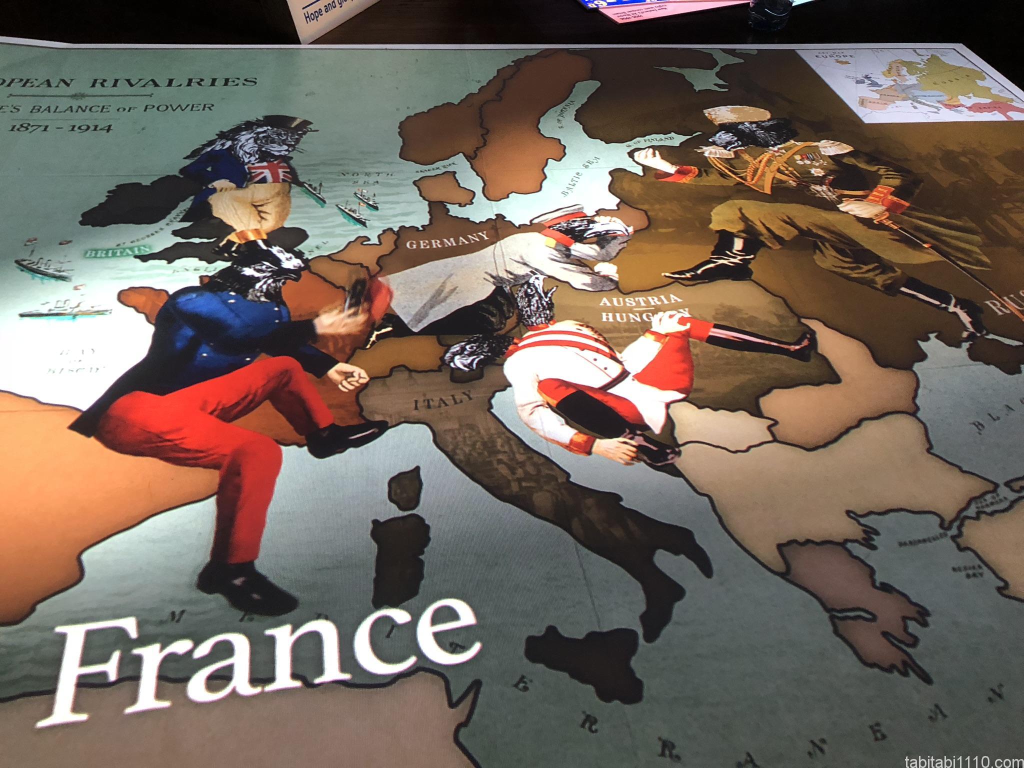 帝国戦争博物館|ヨーロッパ関係図
