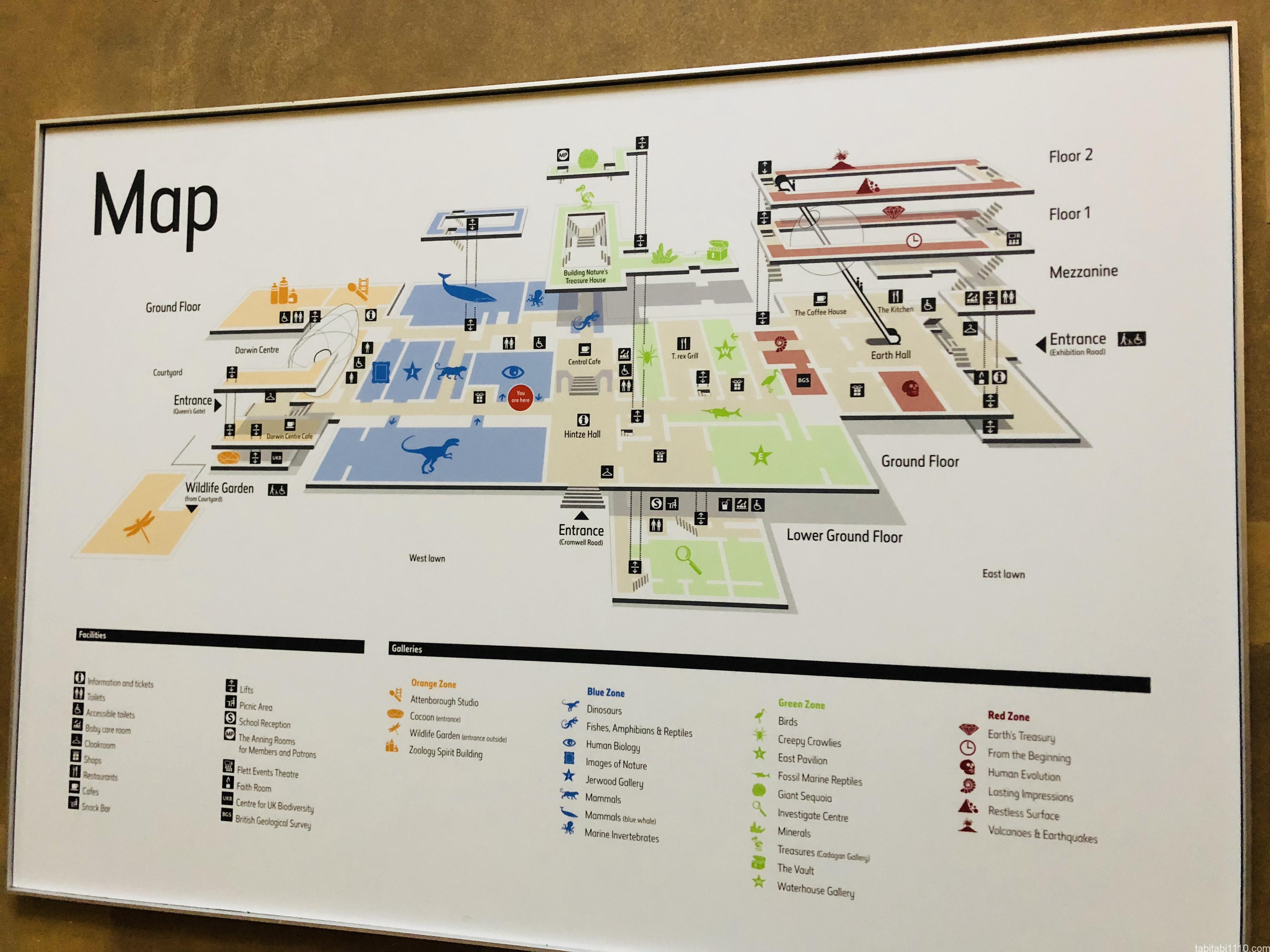 自然史博物館|地図
