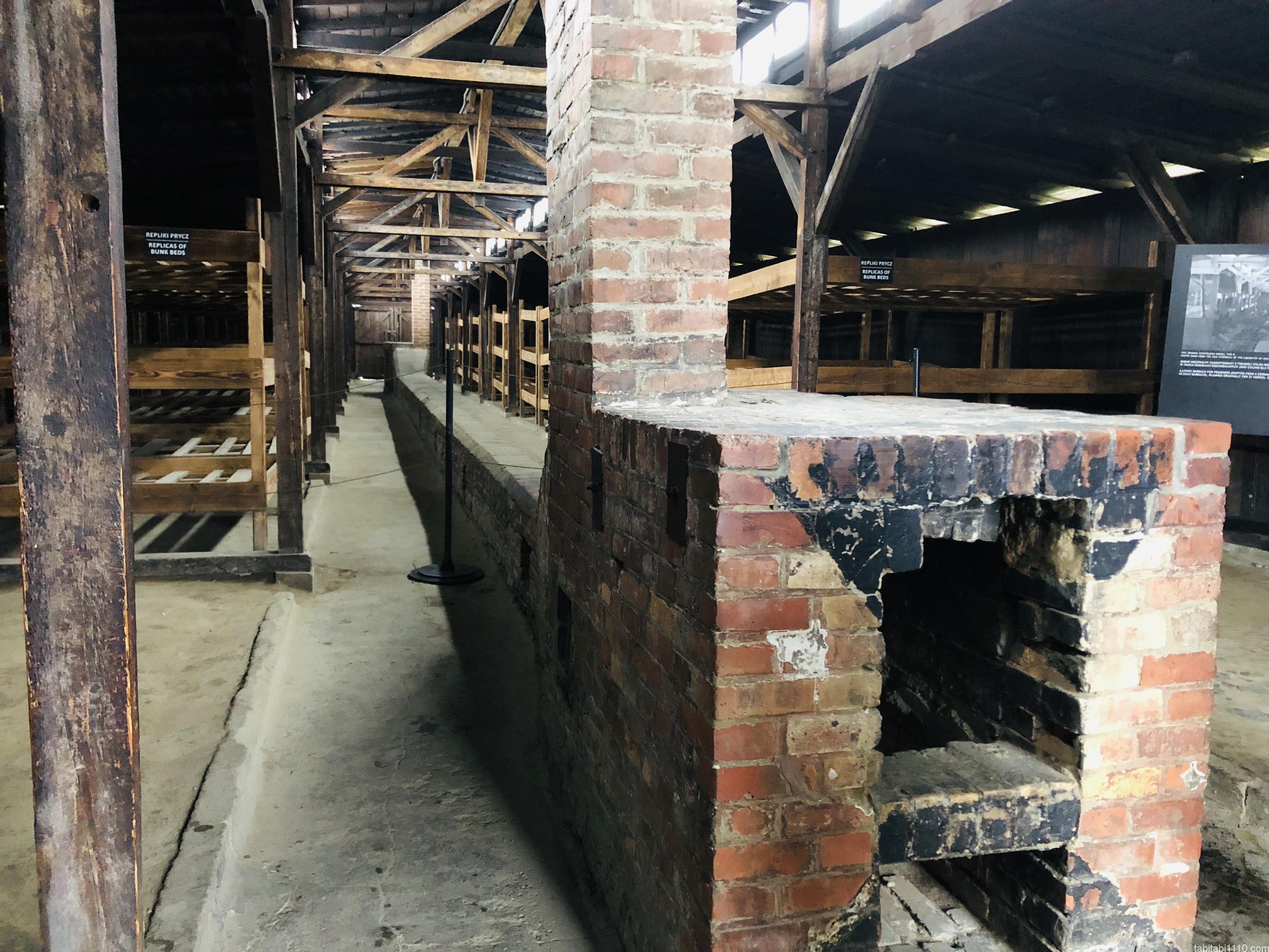 ビルケナウ強制収容所|収容所施設内暖房