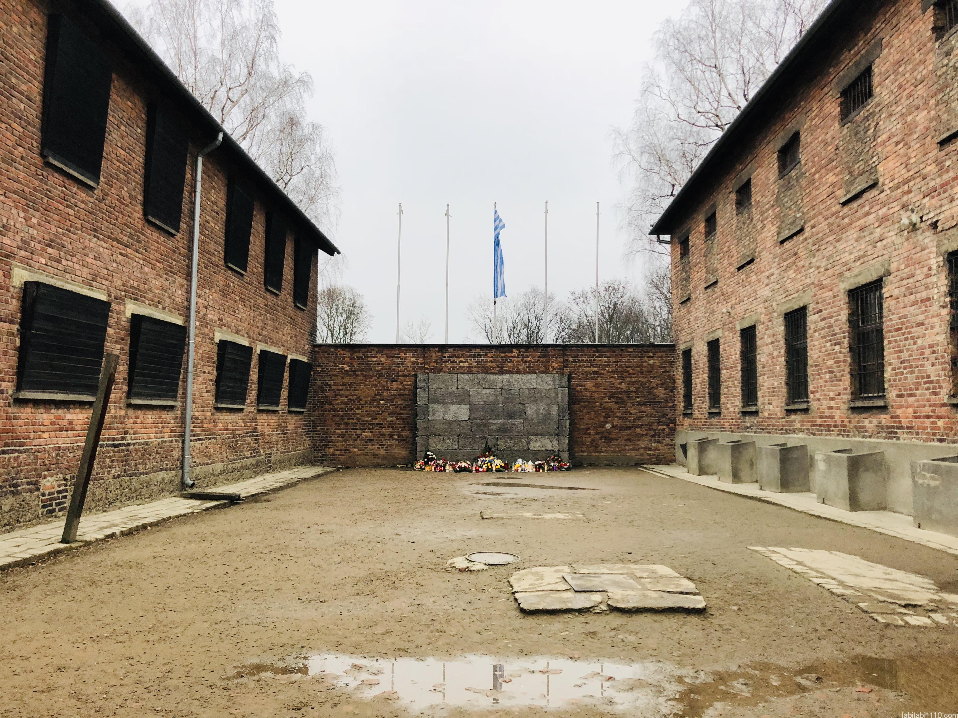 アウシュビッツ強制収容所|死の壁