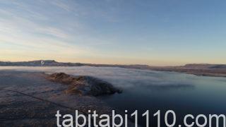アイスランドのドローン空撮|雲海