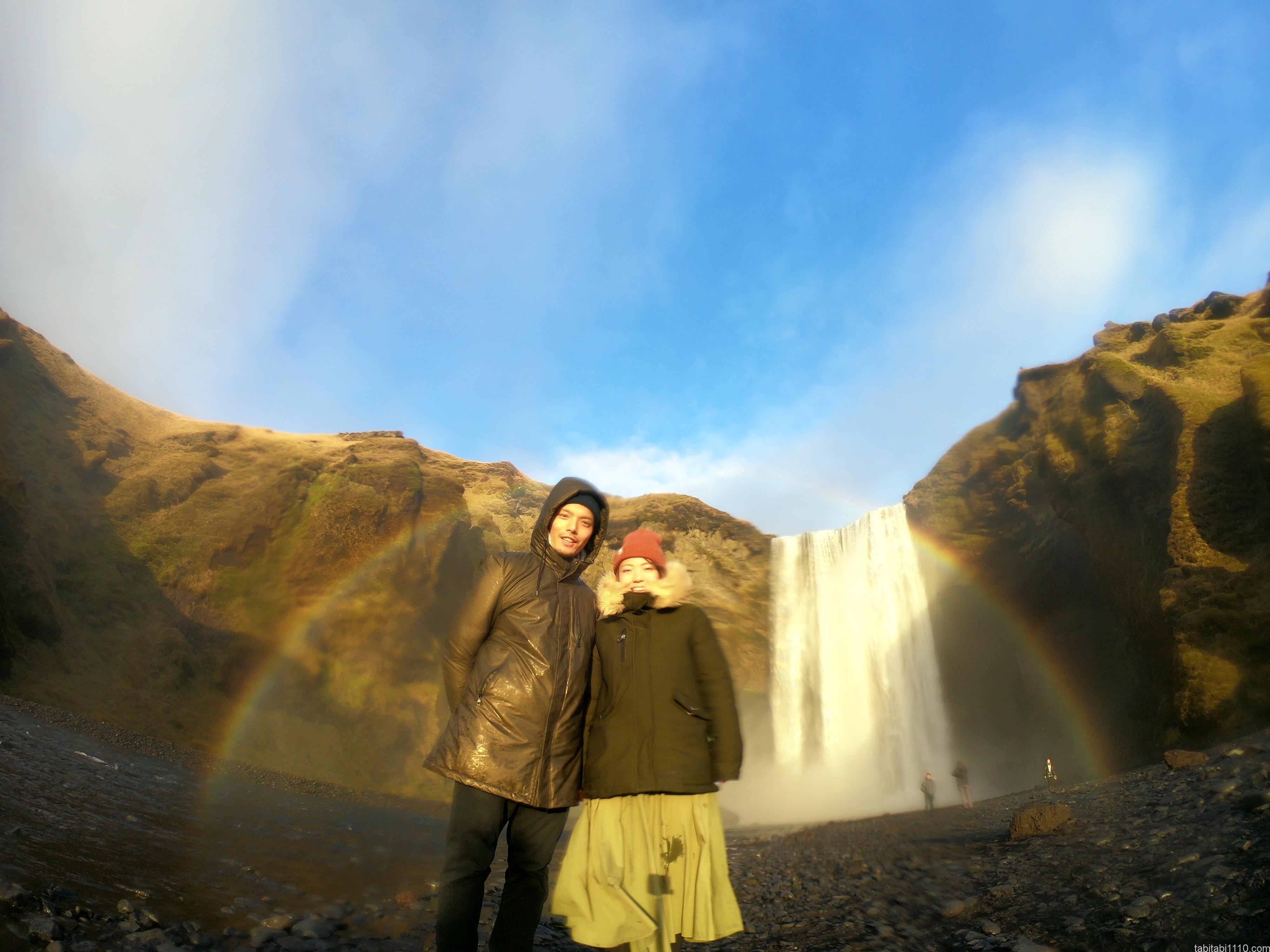 スコゥガフォス(Skógafoss)|虹