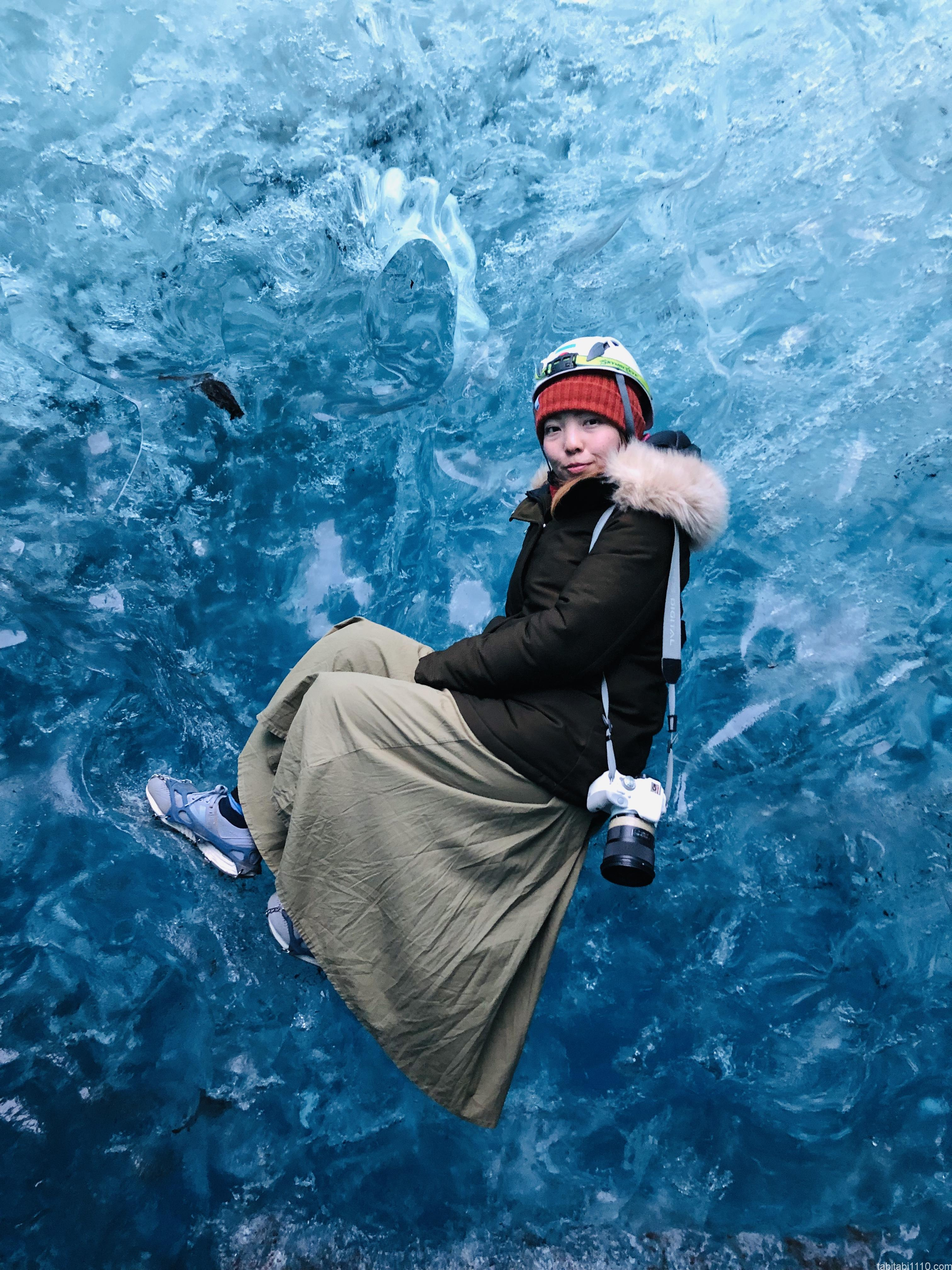 氷の洞窟ツアー|記念撮影