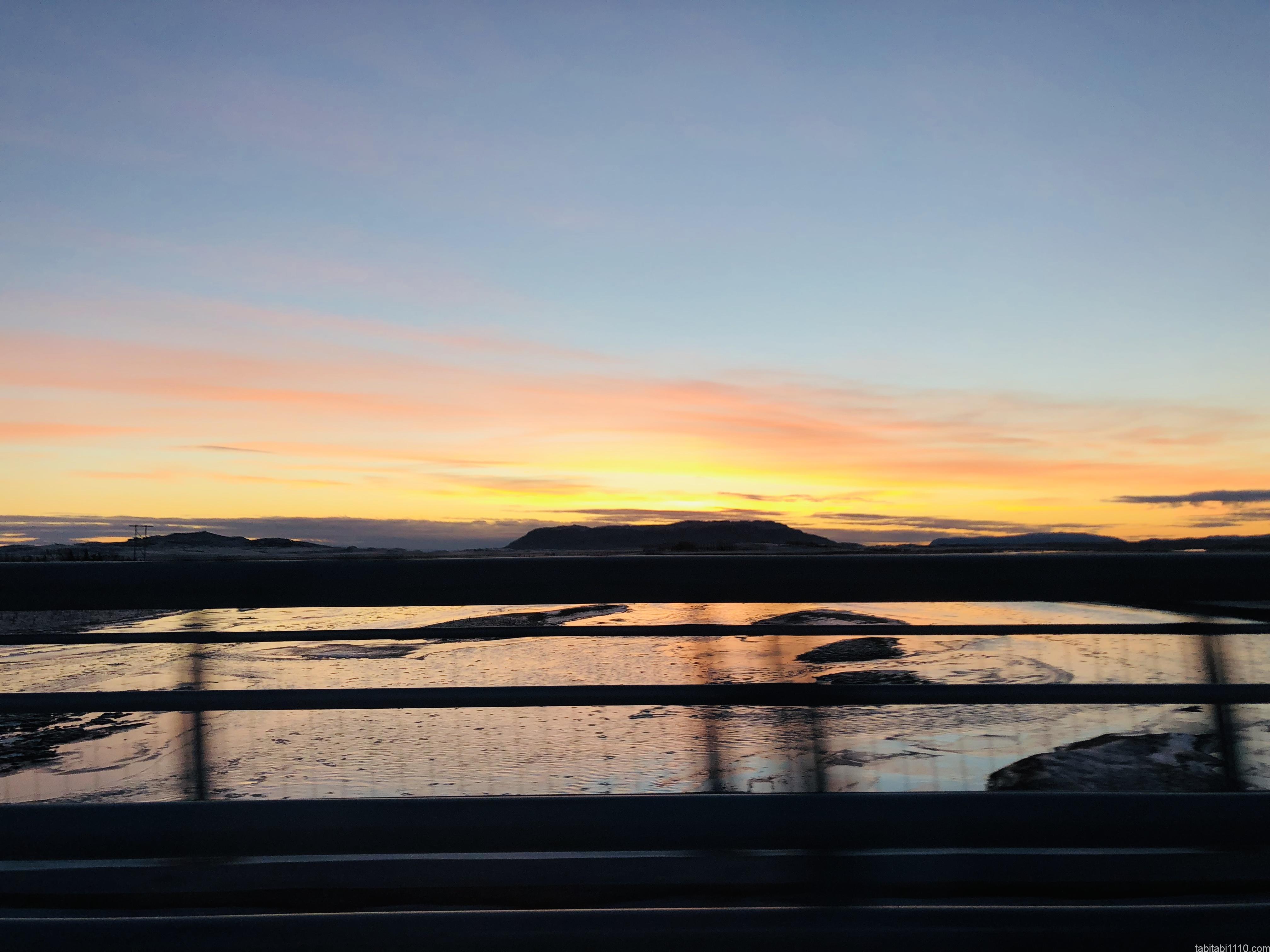 アイスランドの夕焼け
