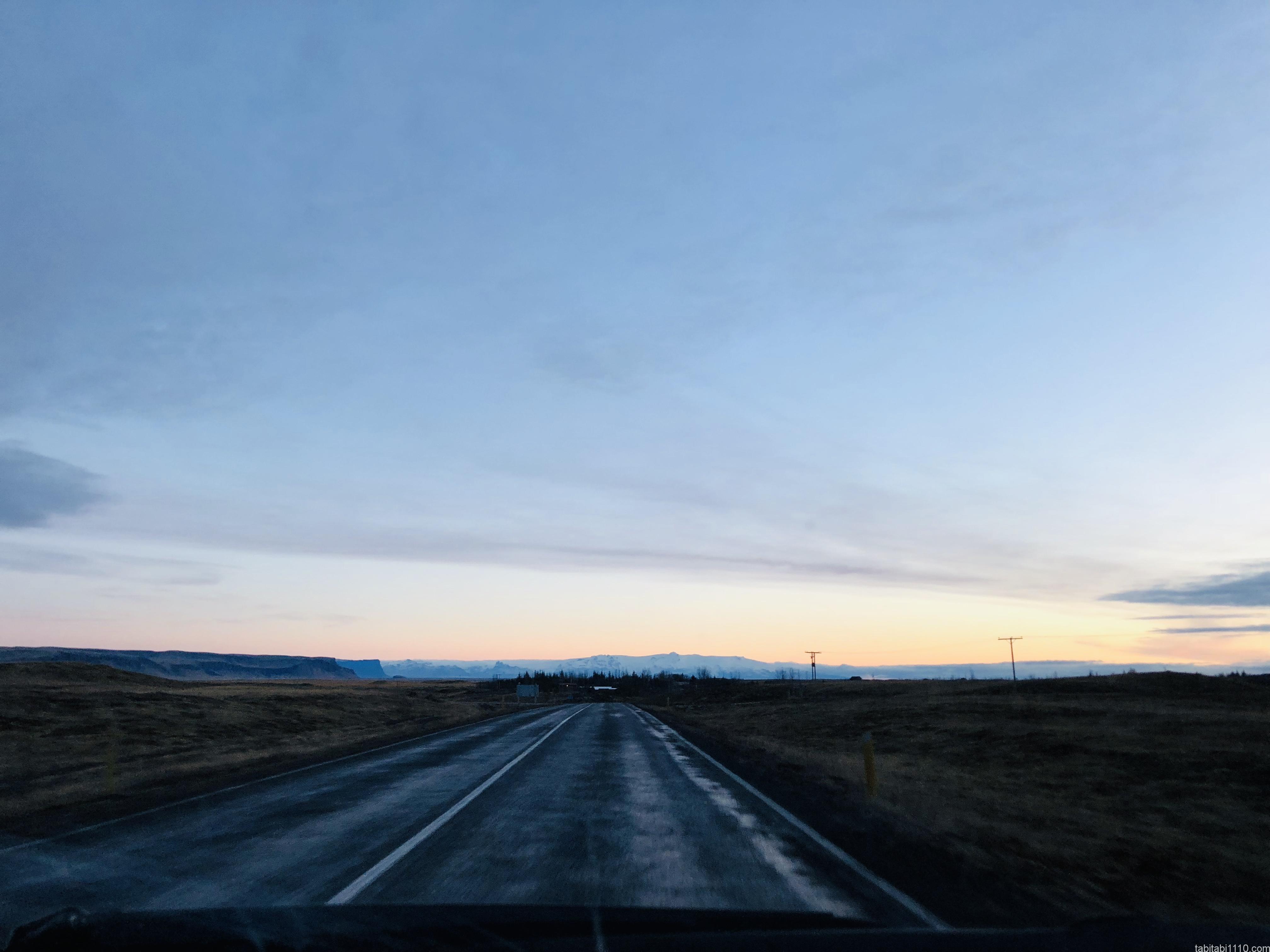 晴れてきたアイスランド