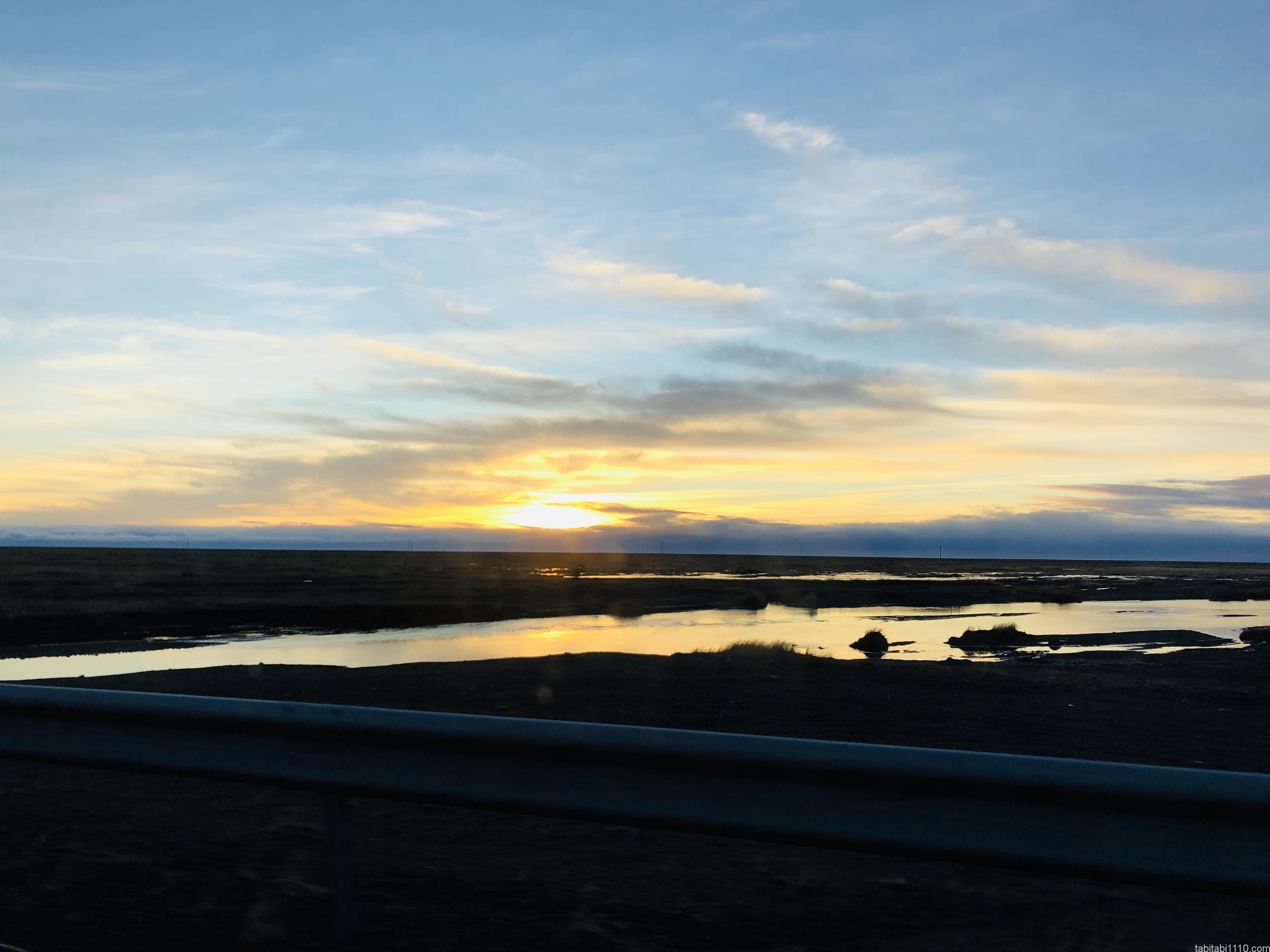 アイスランドの朝日