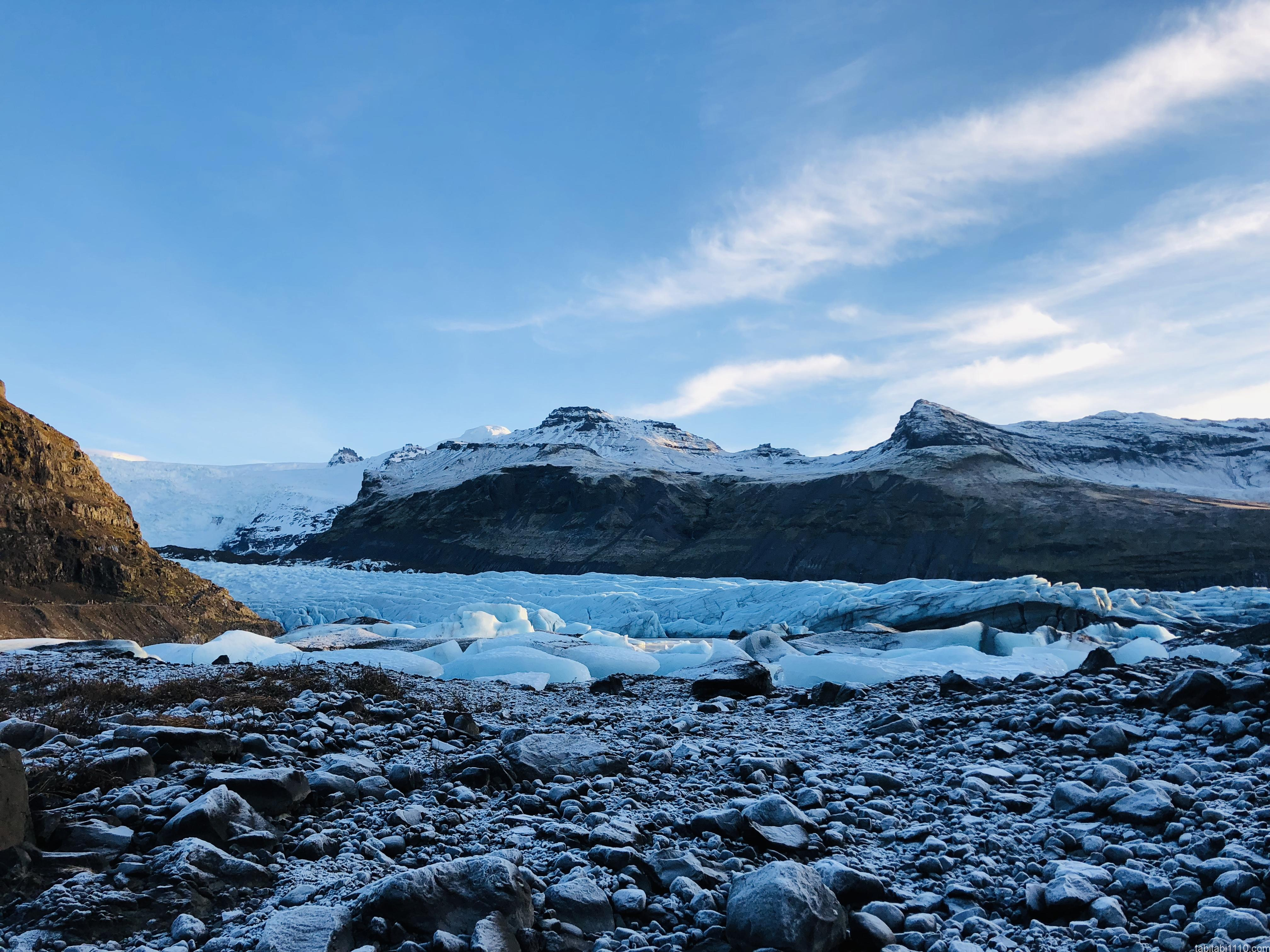 アイスランドの氷河