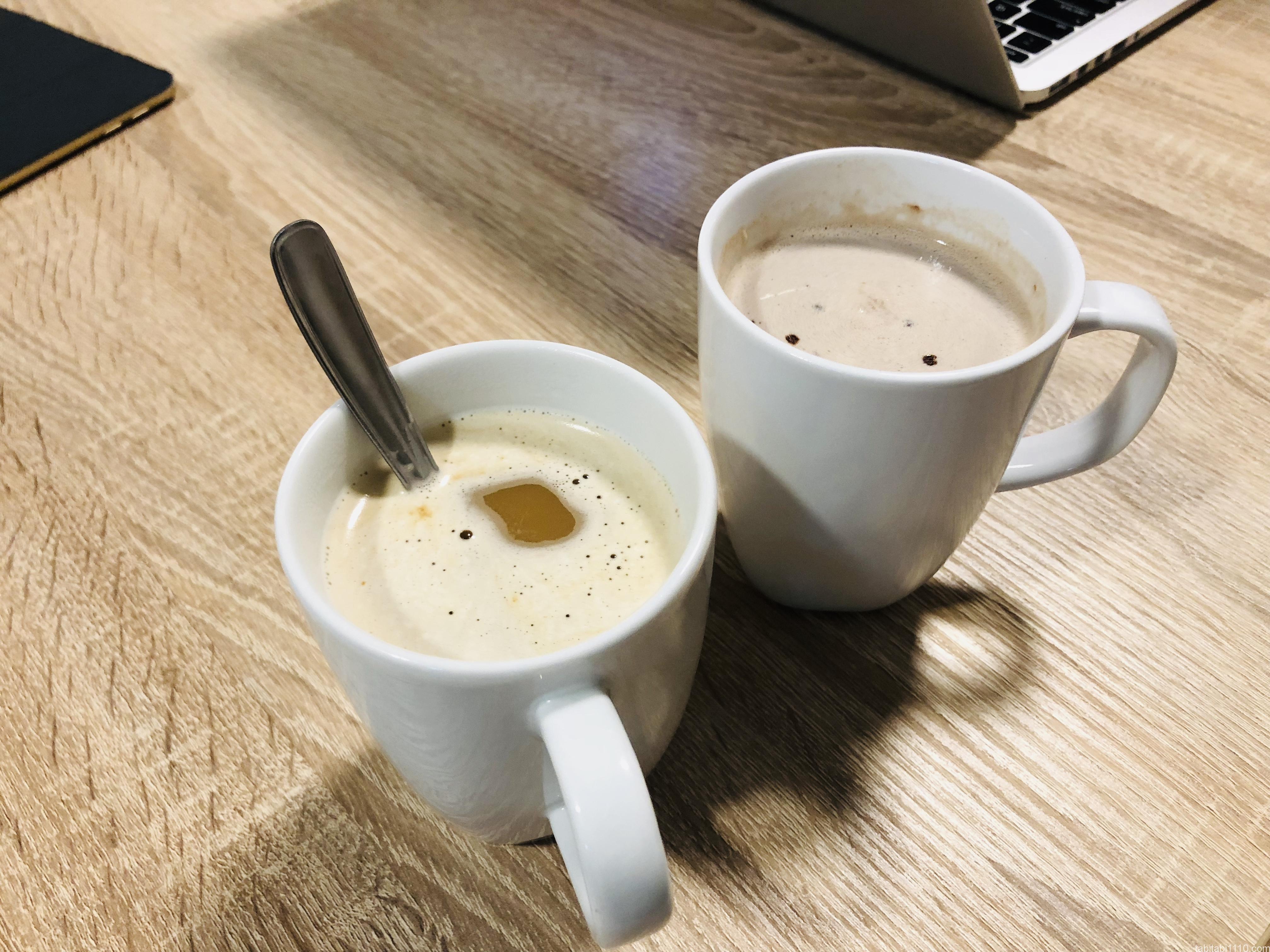 ココアとカフェオレ