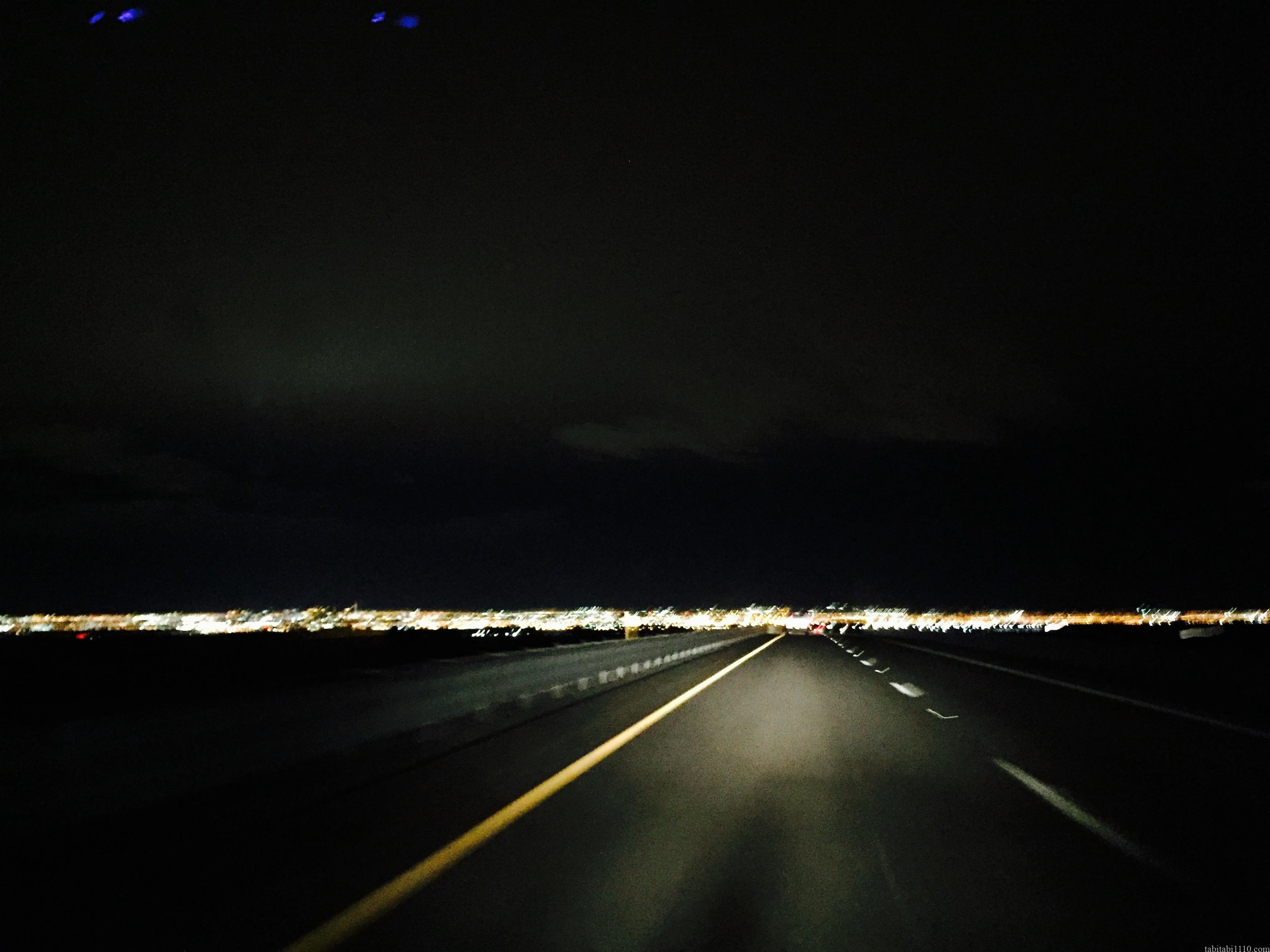 グランドサークルからラスベガスへの帰り道