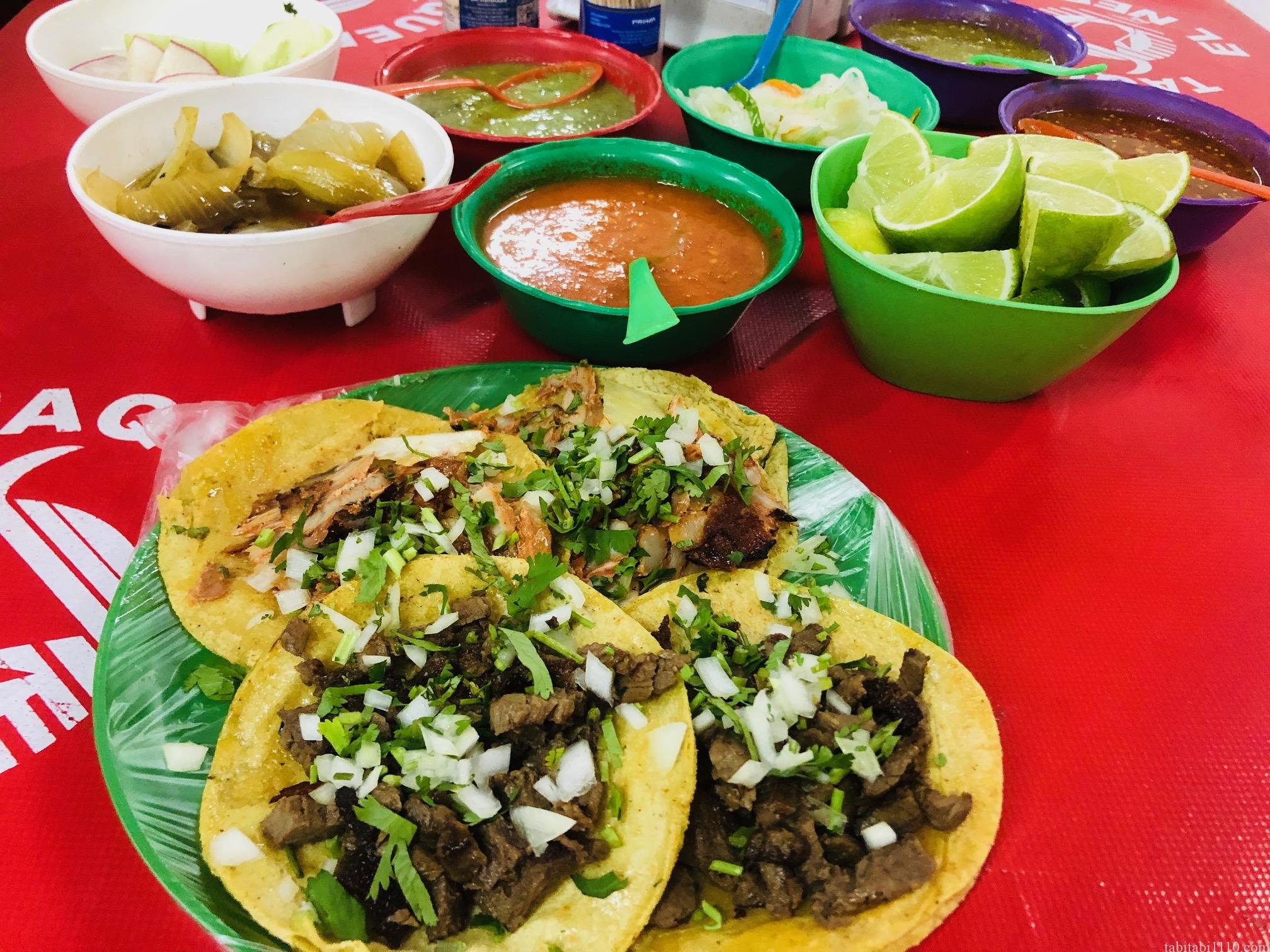 プラヤデルカルメンで食べたタコス|El Ñero