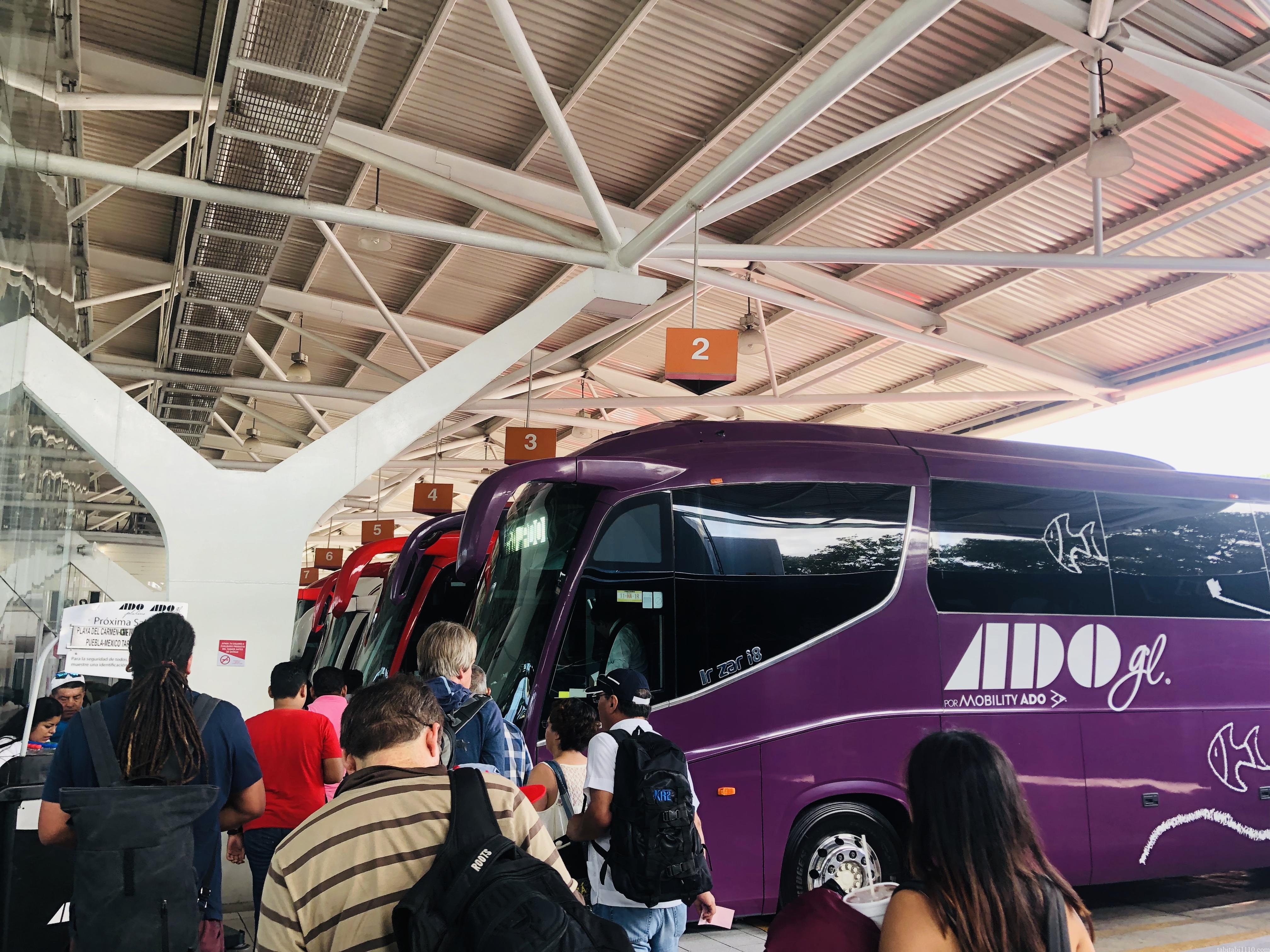 ADO|カンクン空港行きバス