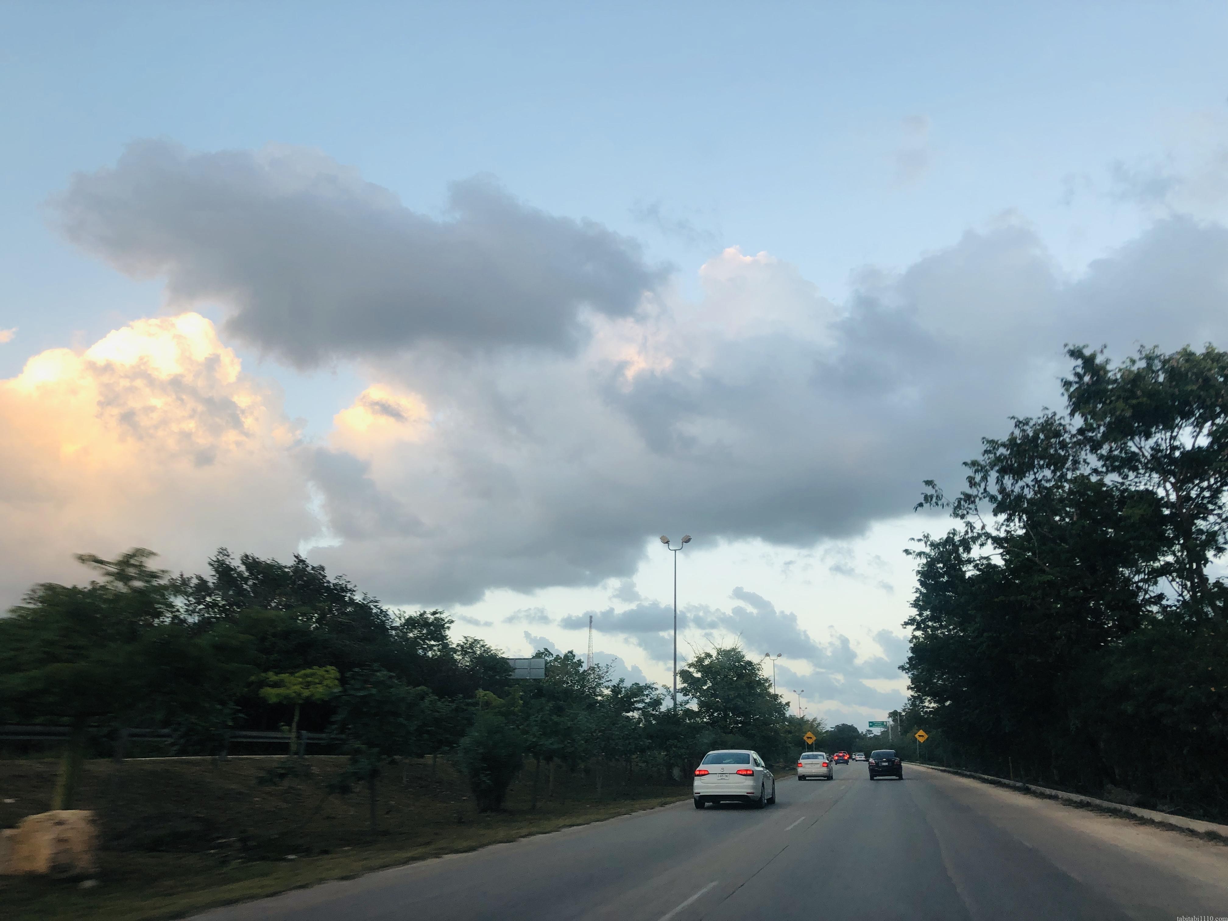 カンクンの道