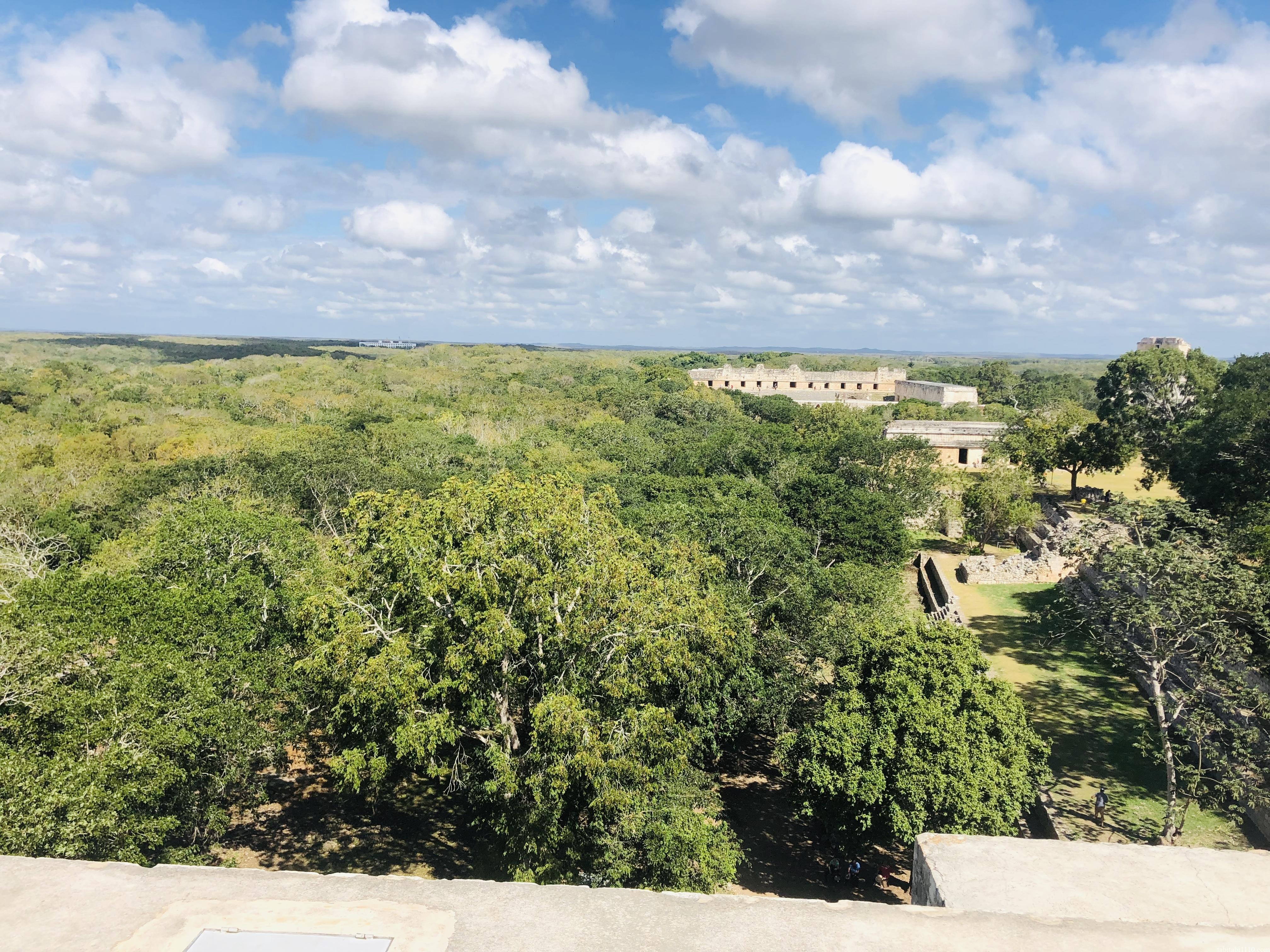 ウシュマル遺跡|グランピラミッドからの景色