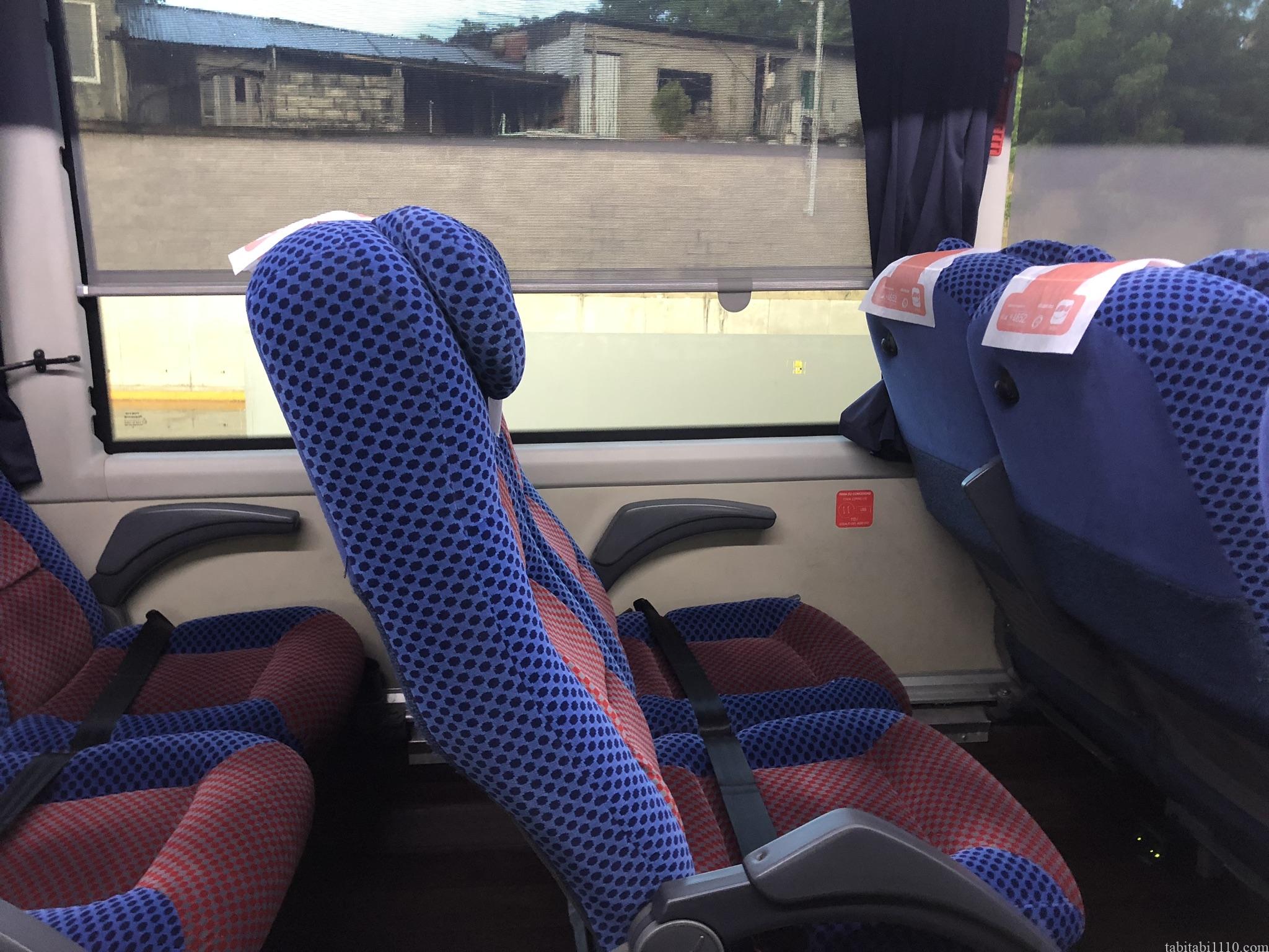 パレンケからオアハカへのバス車内