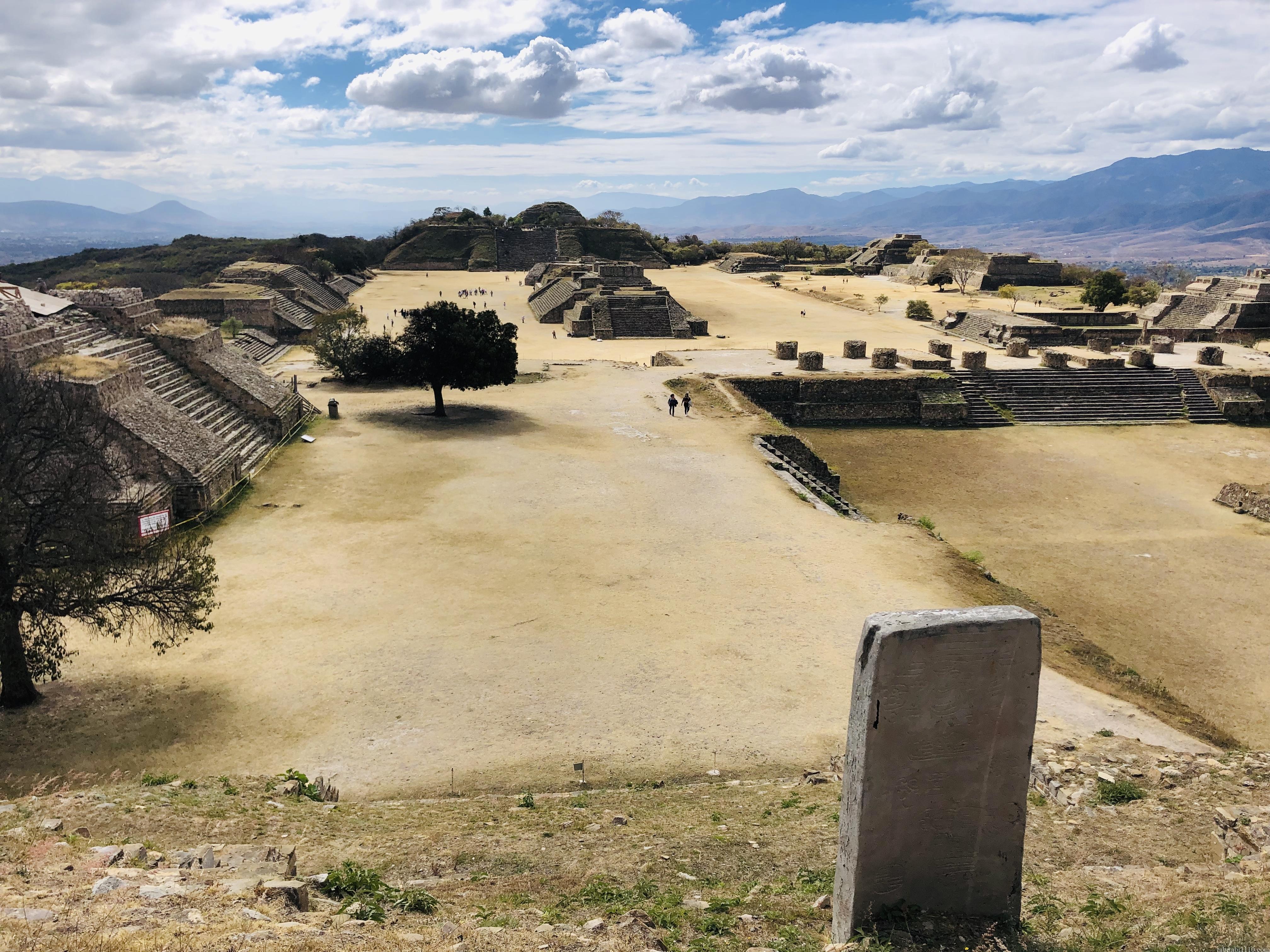 モンテアルバン 北の大墳墓 景色