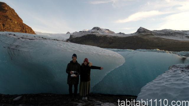 アイスランドのドローン空撮|氷河