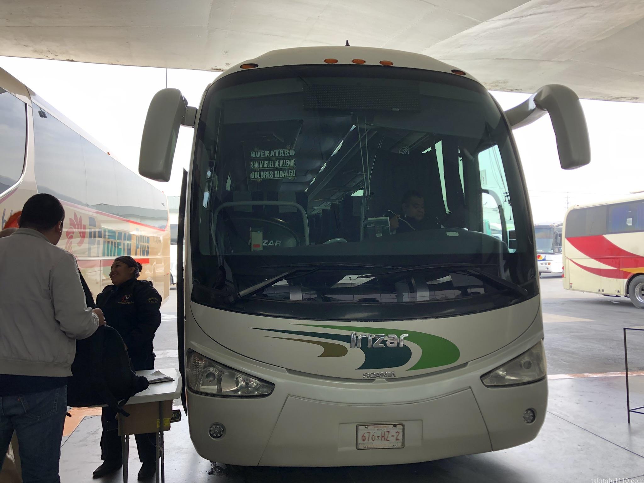 サンミゲルアジェンデ行きバス