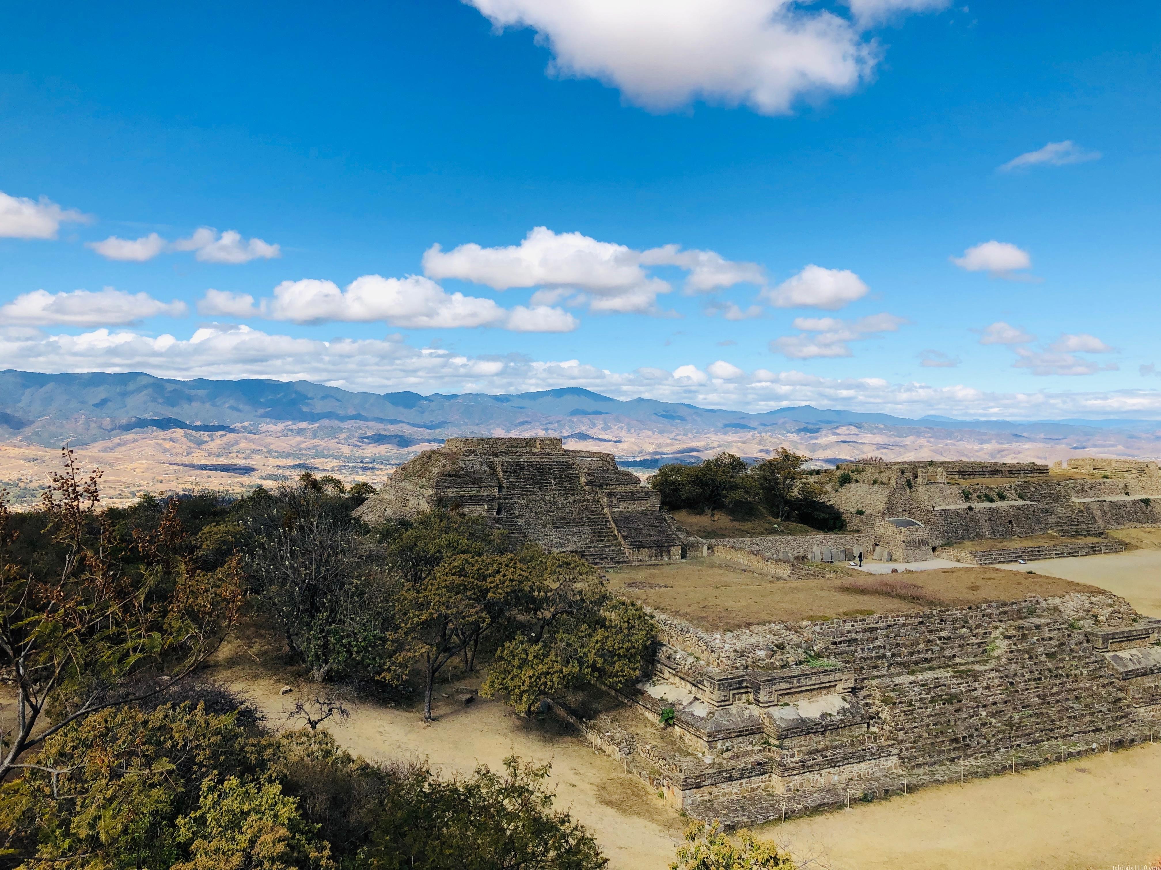 モンテアルバン 南の大墳墓 景色