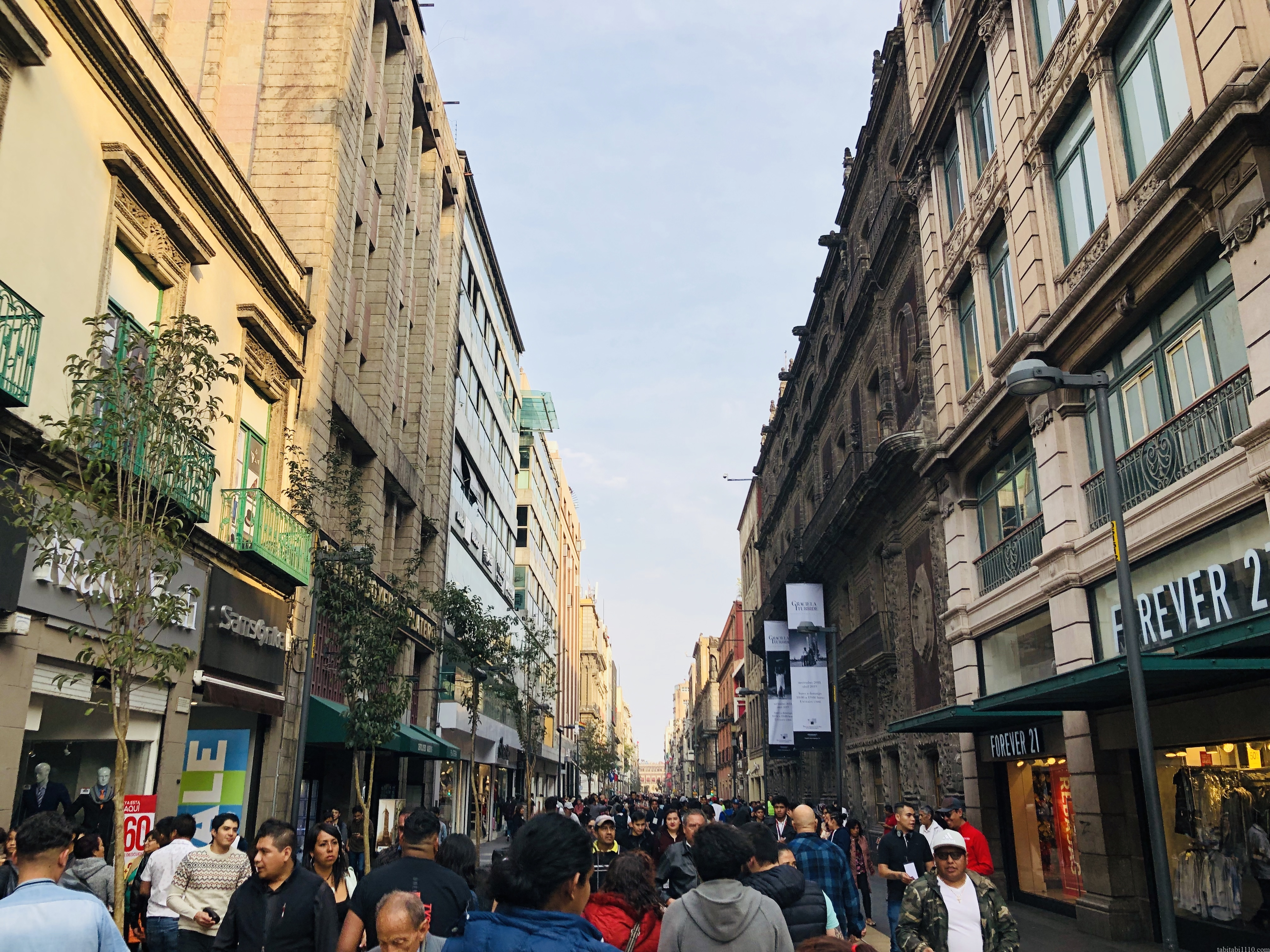 メキシコシティの観光通り