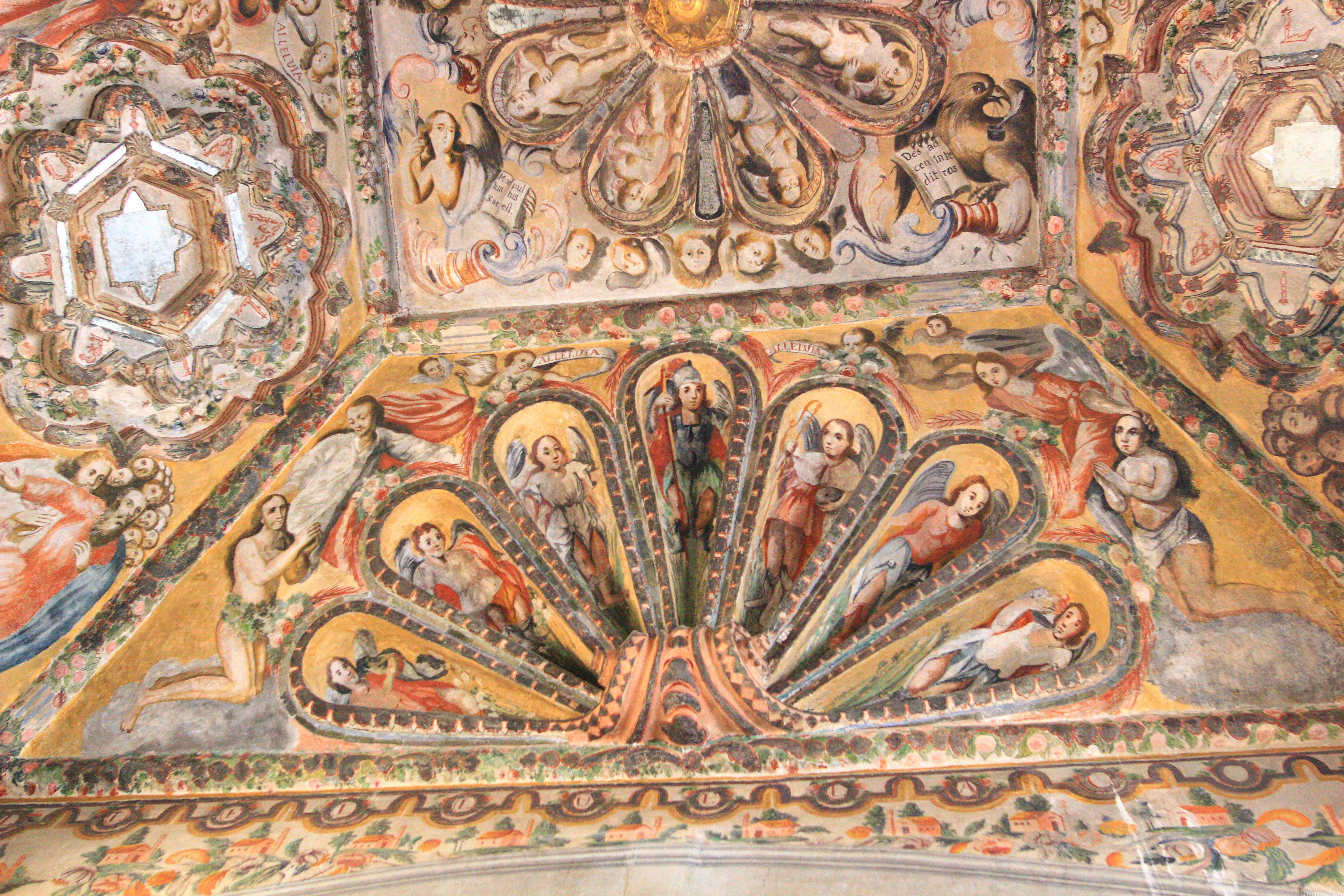 アトトニルコの教会|壁面装飾
