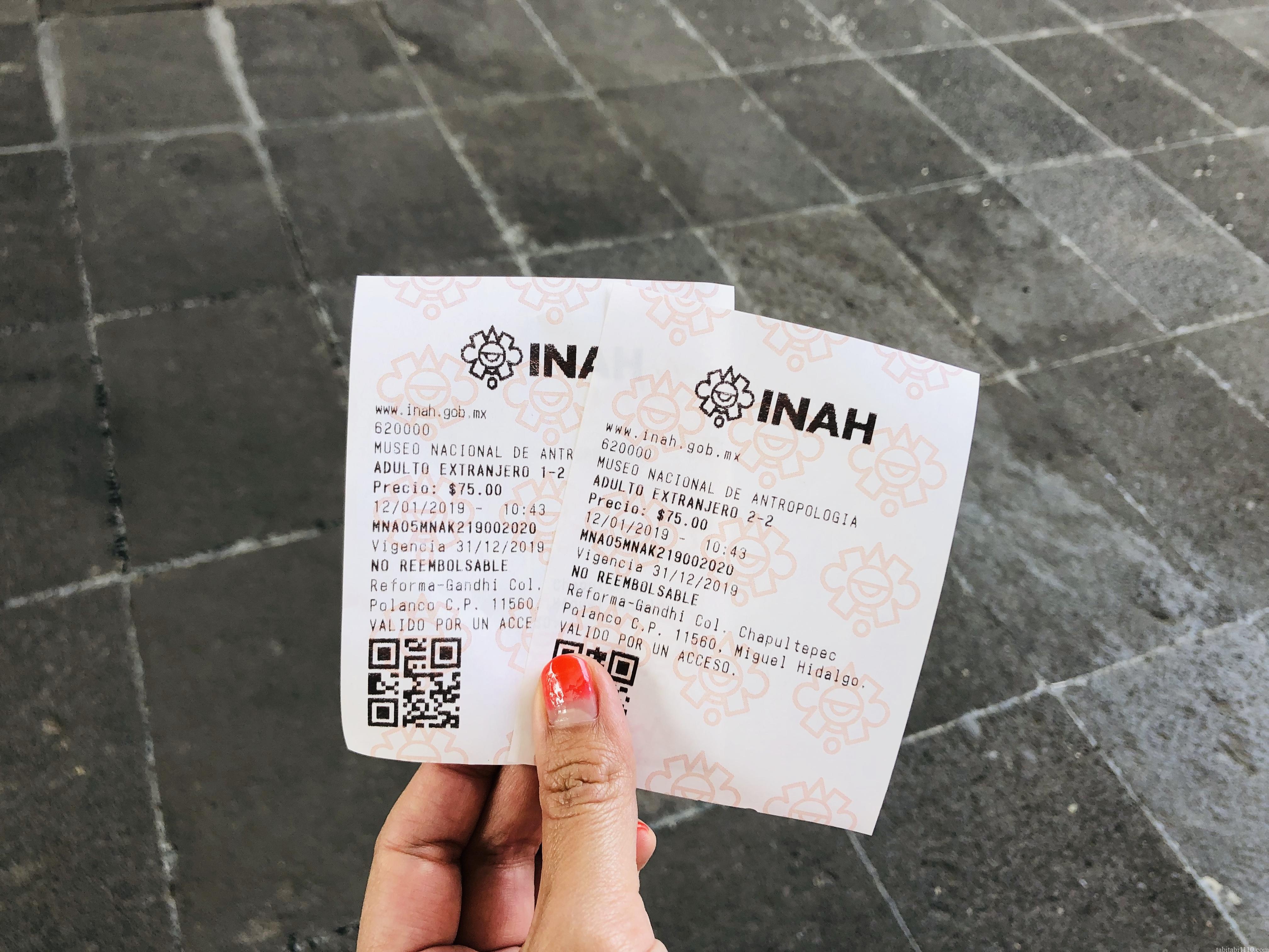 国立人類学博物館|チケット