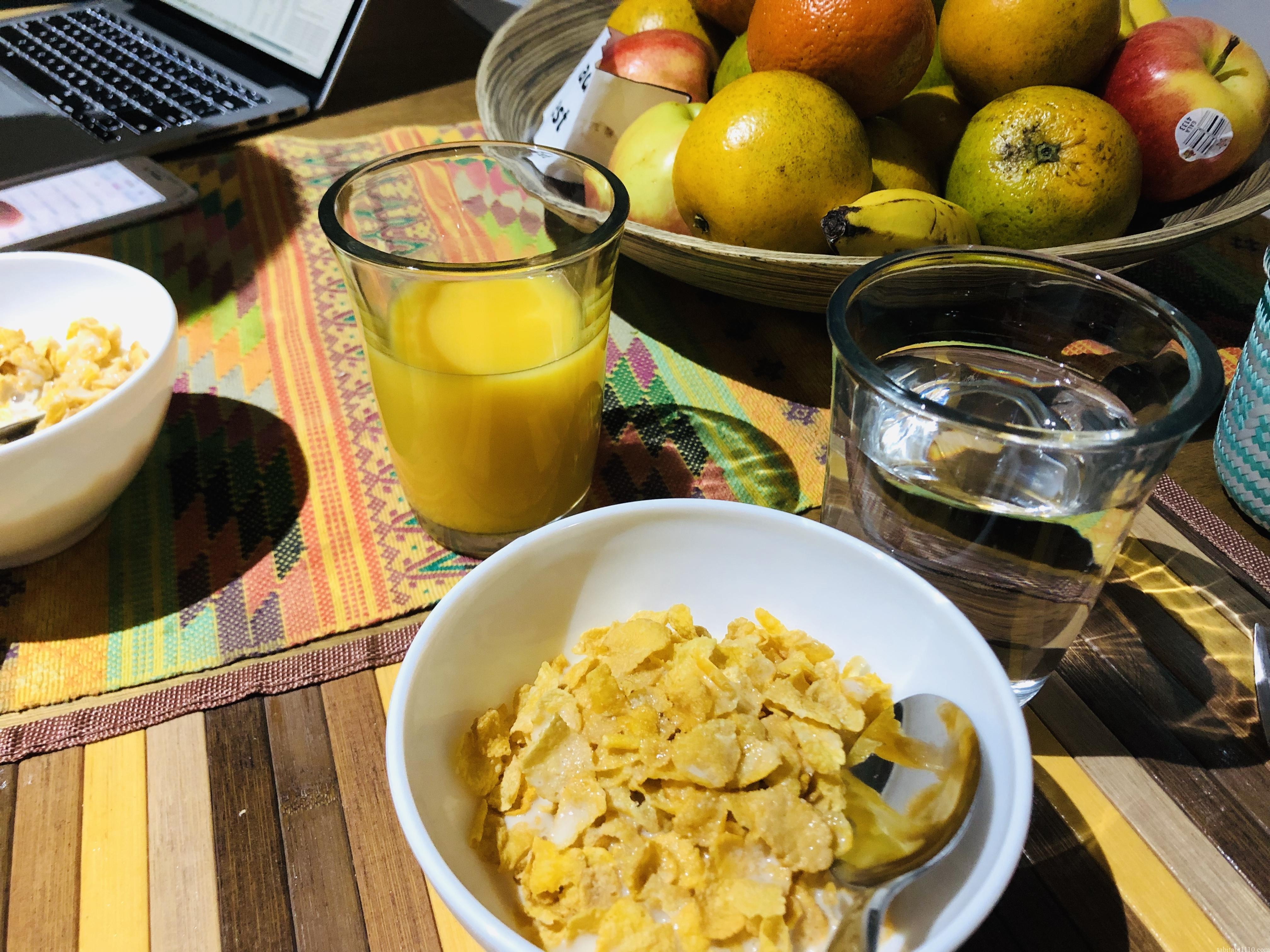 Airbnb先の朝食