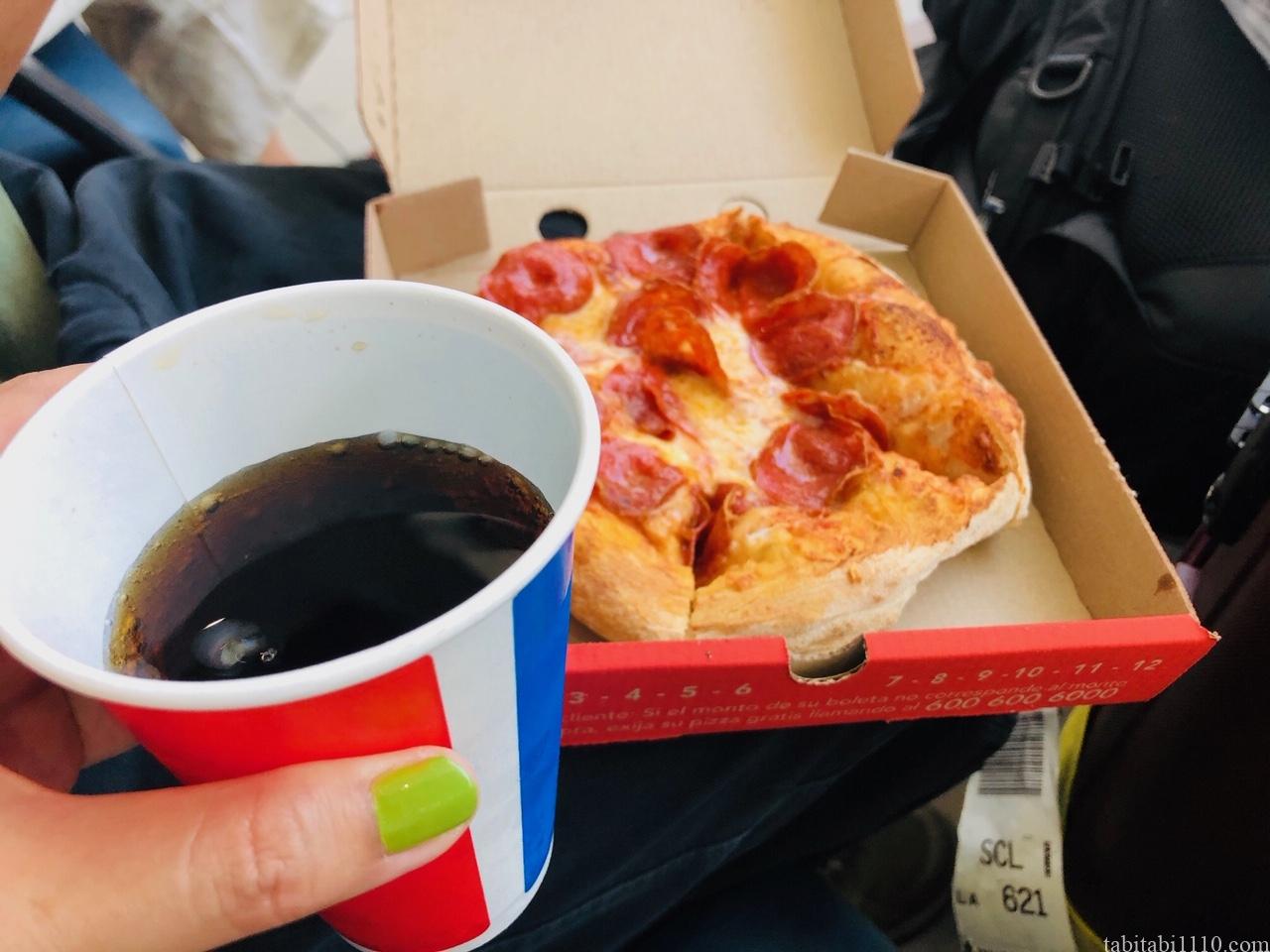 サンティアゴ空港 食事