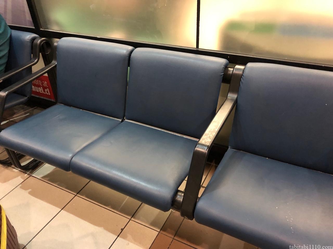 サンティアゴ空港 寝る場所