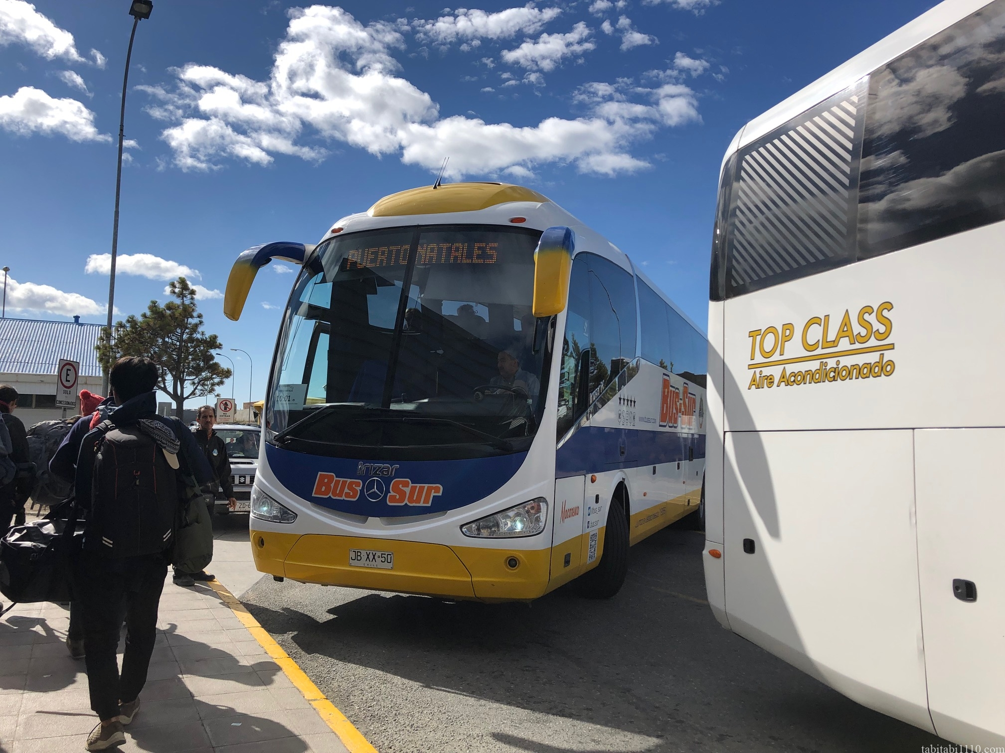 プンタアレナス プエルトナタレス バス